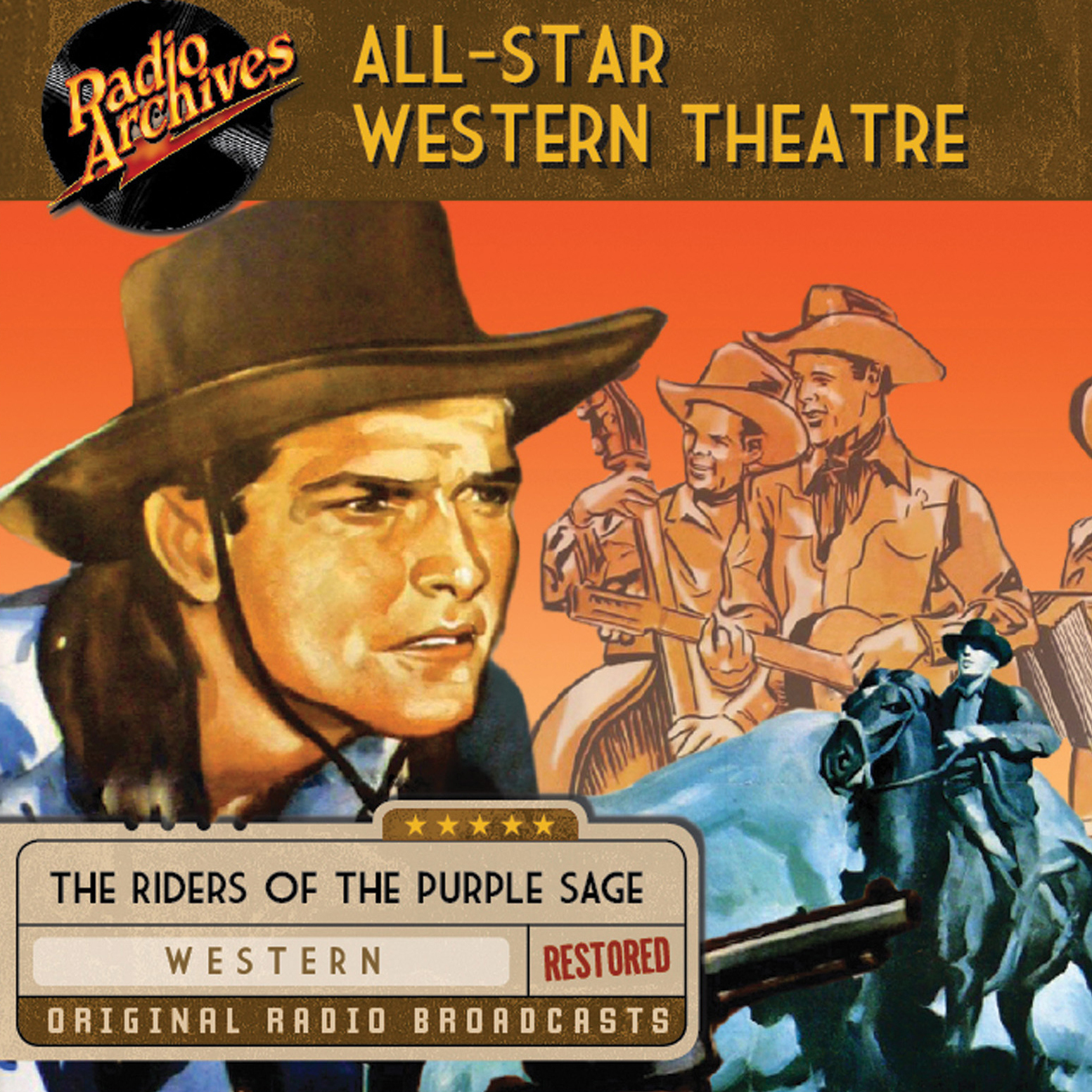 Printable All-Star Western Theatre Audiobook Cover Art