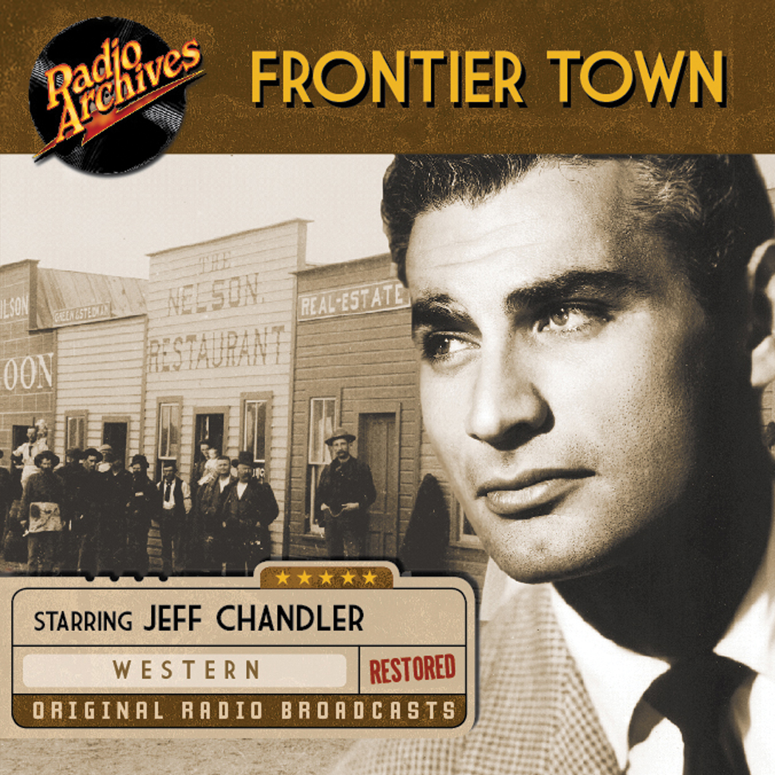Printable Frontier Town: The Saga of the Roaring West Audiobook Cover Art