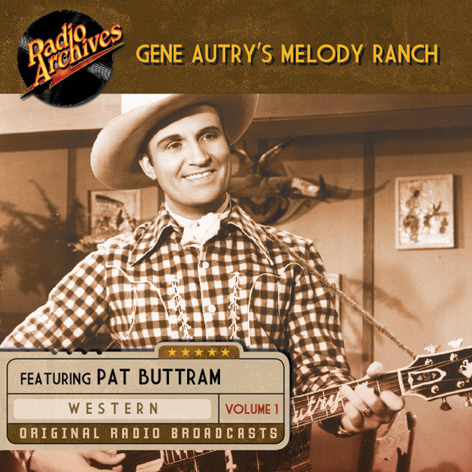 Printable Gene Autry's Melody Ranch, Volume 1 Audiobook Cover Art