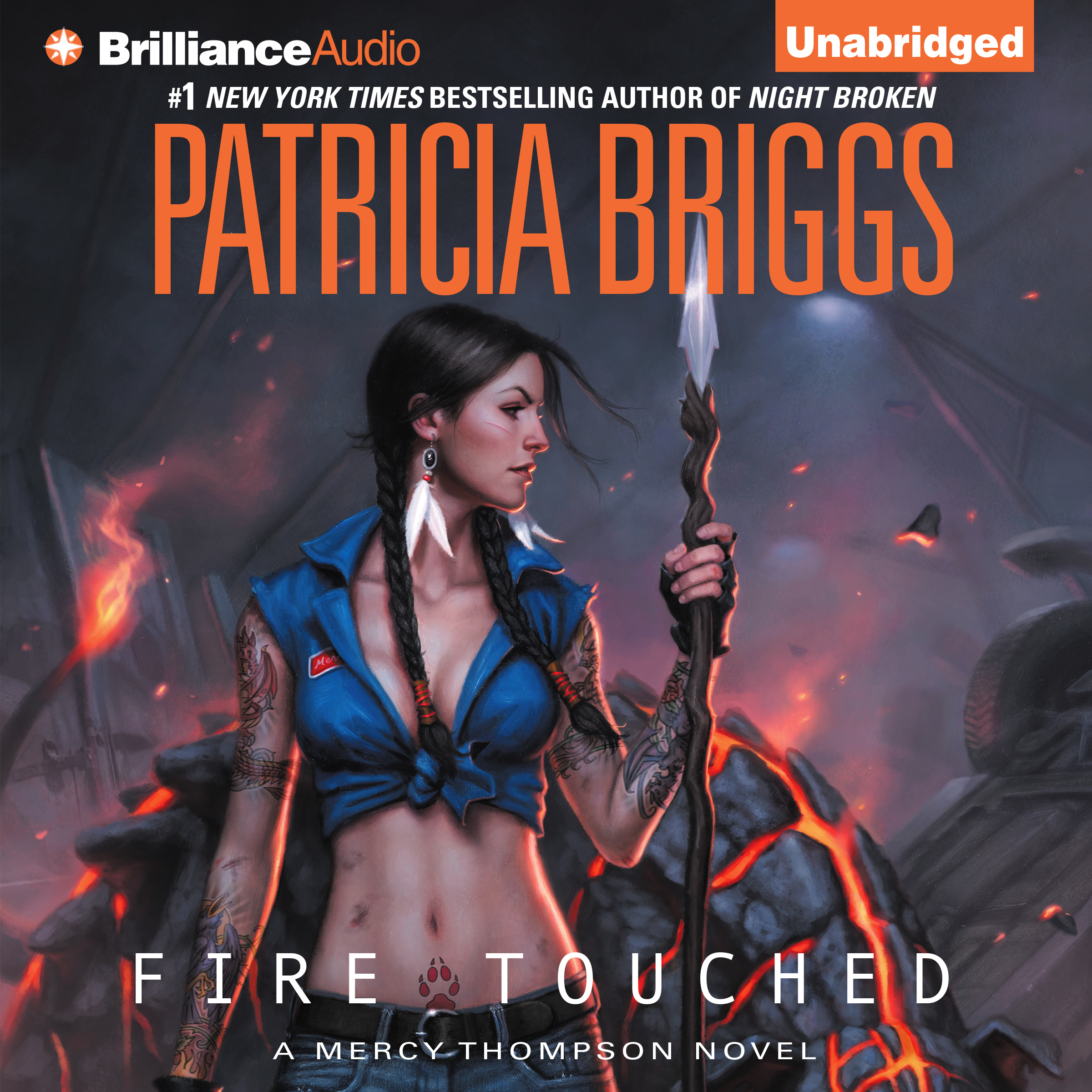 Printable Fire Touched Audiobook Cover Art