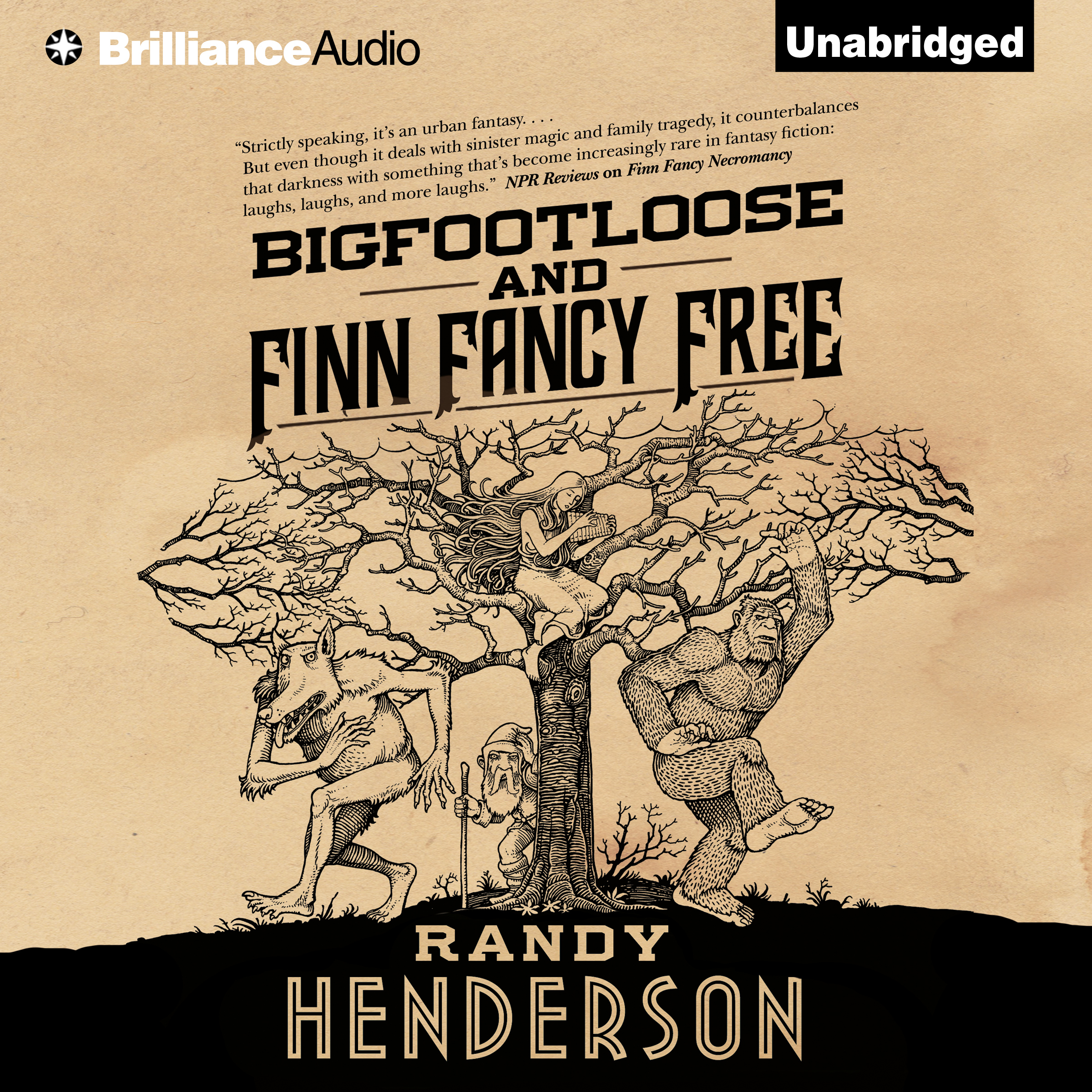 Printable Bigfootloose and Finn Fancy Free: A Darkly Funny Urban Fantasy Audiobook Cover Art