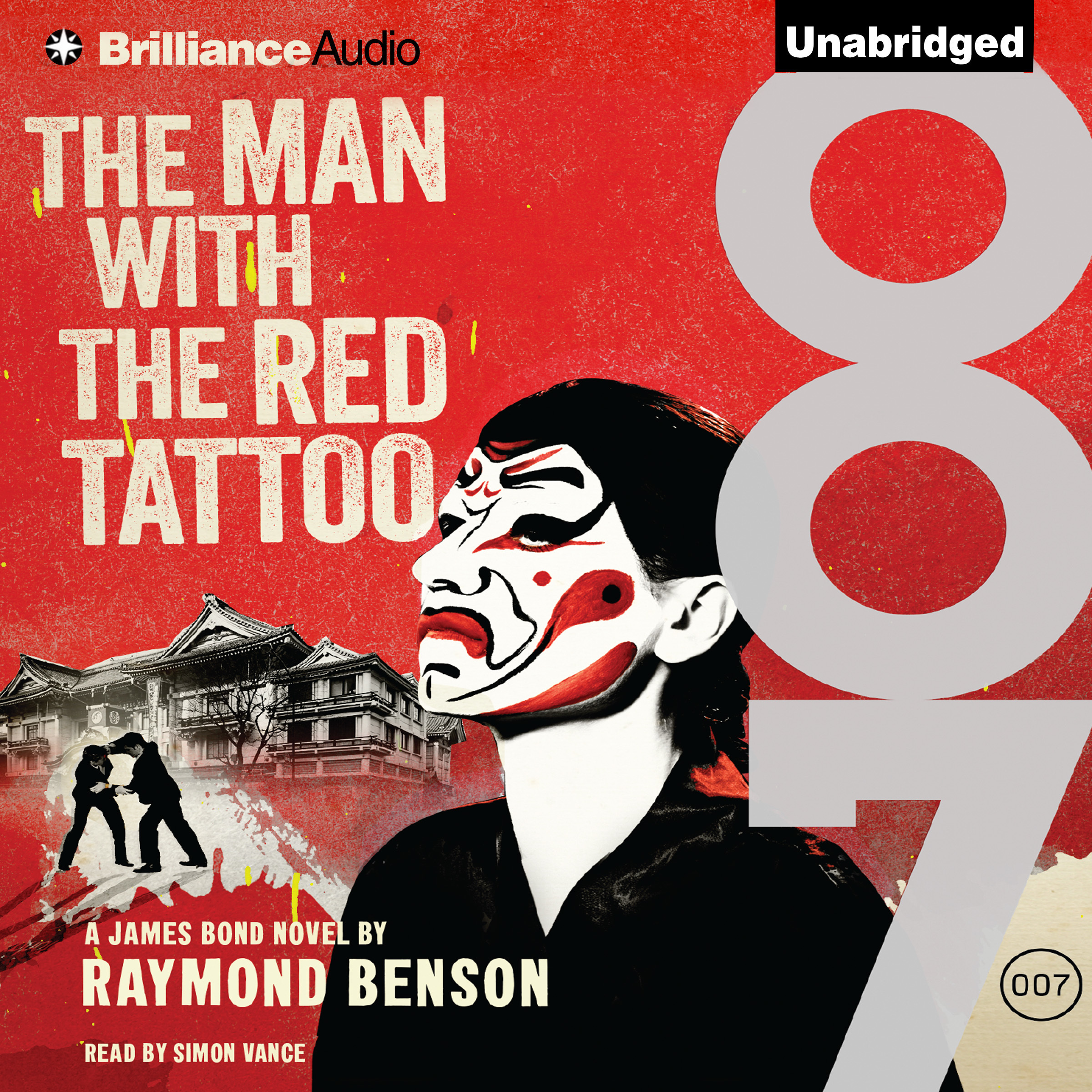 Printable The Man with the Red Tattoo Audiobook Cover Art