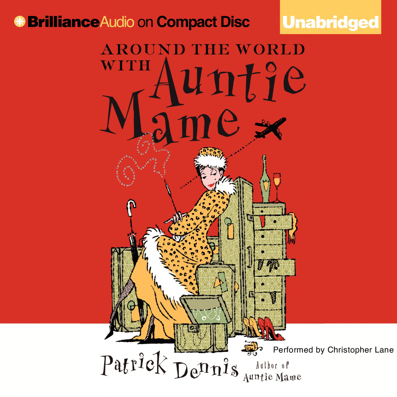 Printable Around the World with Auntie Mame Audiobook Cover Art