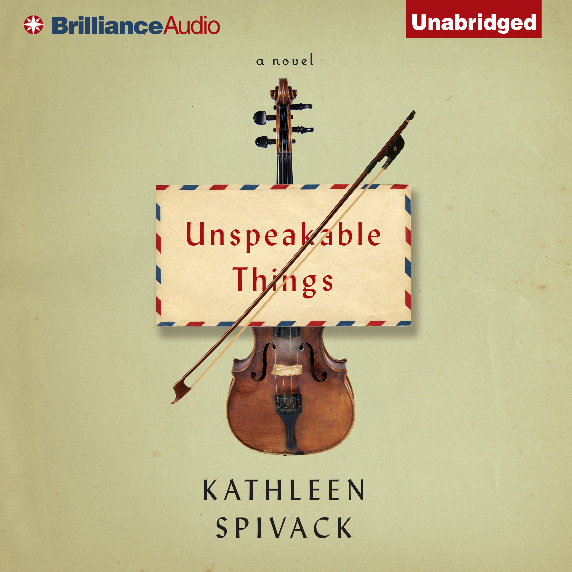 Printable Unspeakable Things: A Novel Audiobook Cover Art