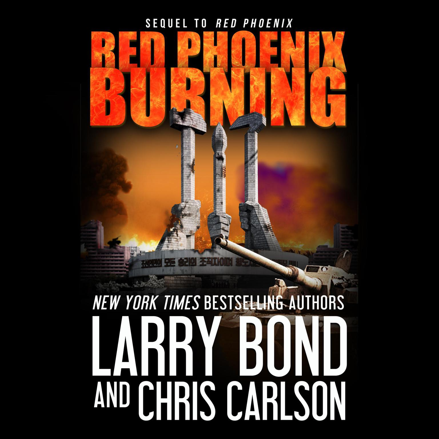 Printable Red Phoenix Burning Audiobook Cover Art