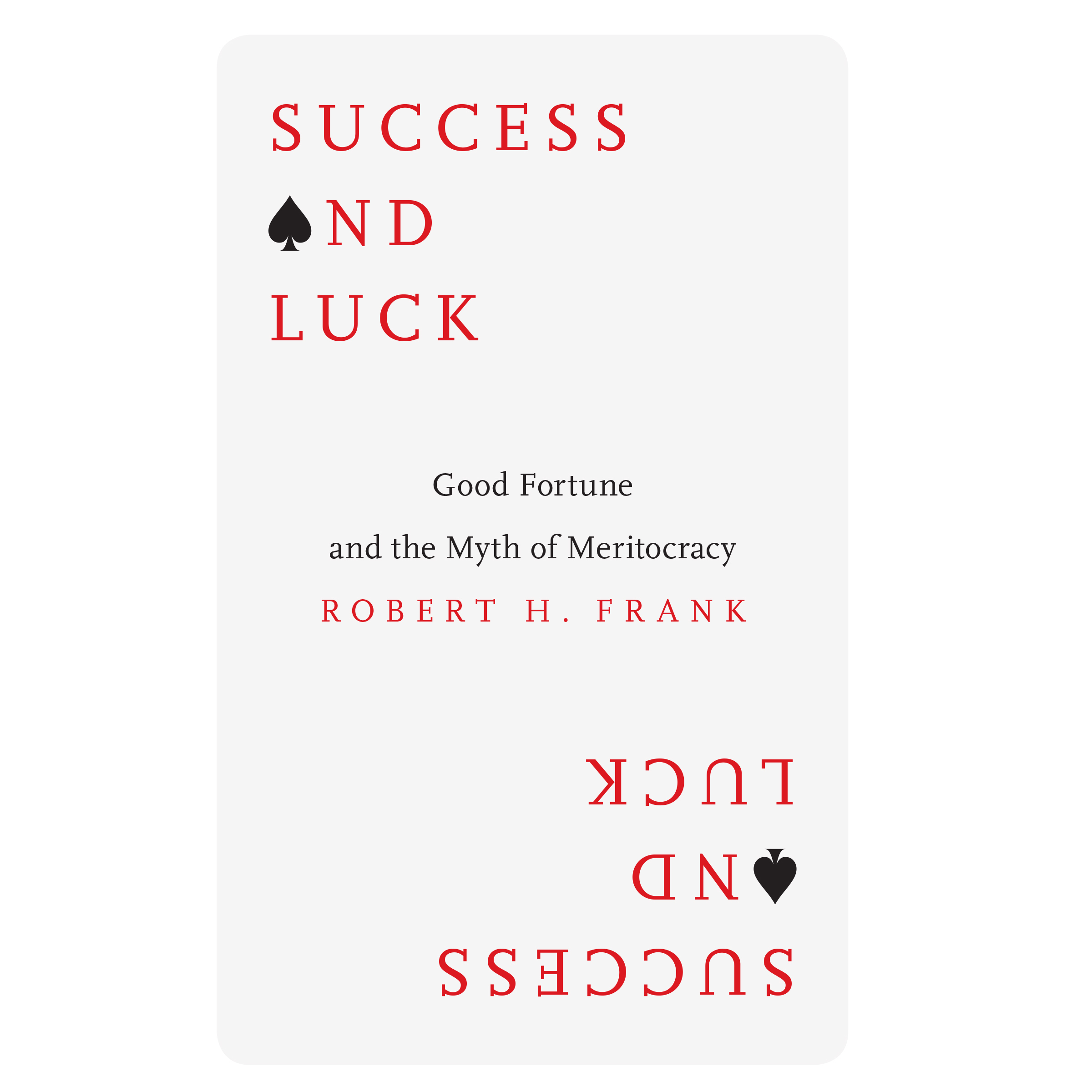 Printable Success and Luck: Good Fortune and the Myth of Meritocracy Audiobook Cover Art