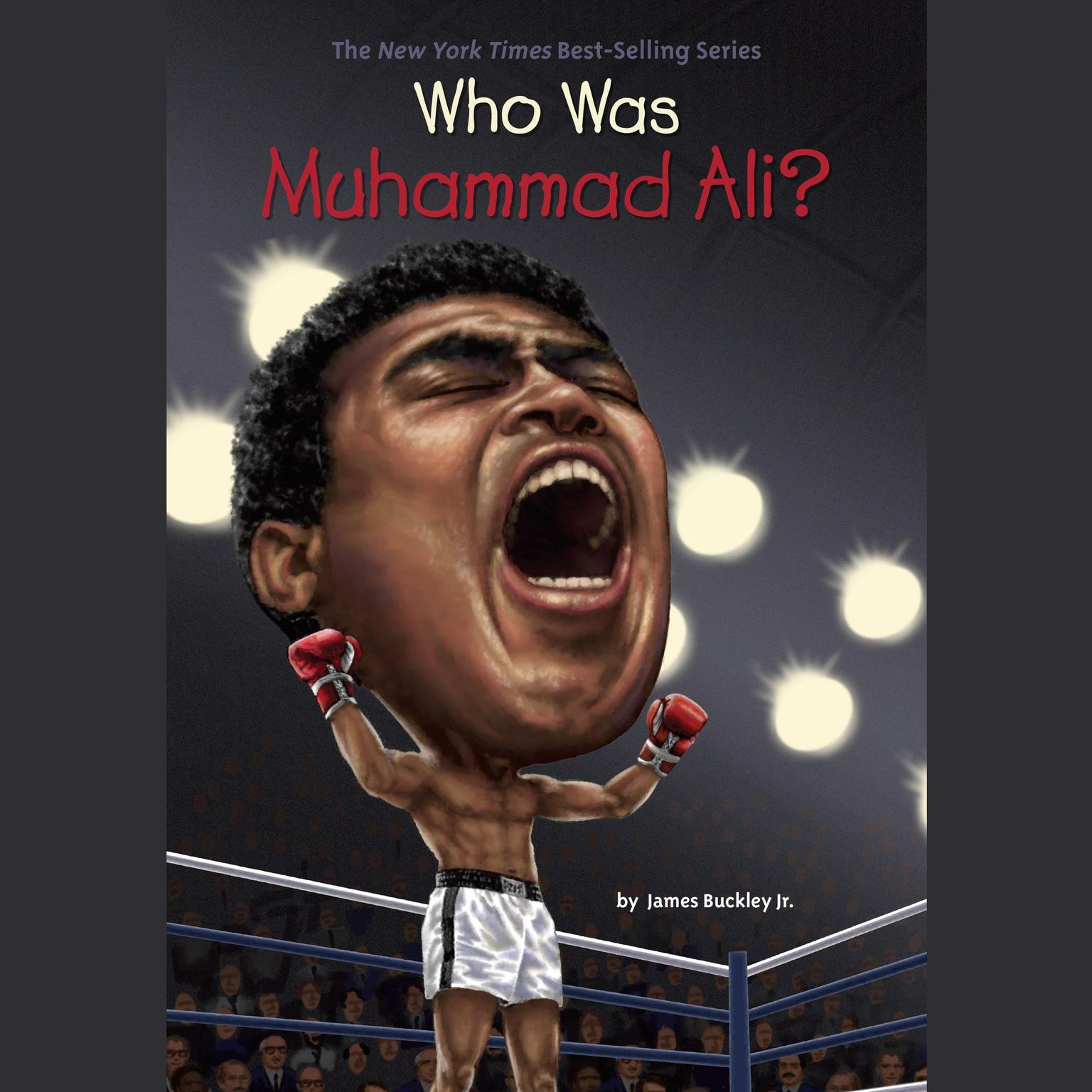 Printable Who Is Muhammad Ali? Audiobook Cover Art