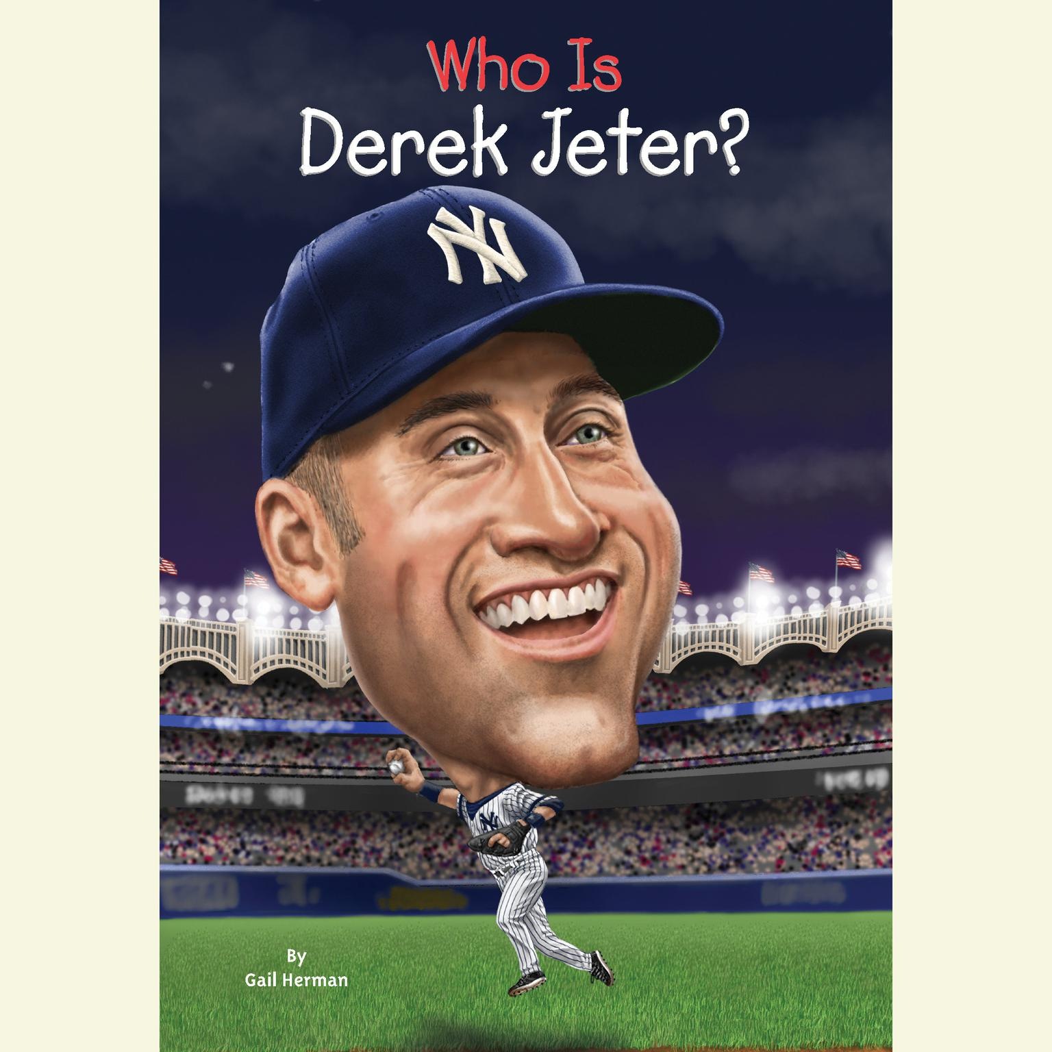 Printable Who Is Derek Jeter? Audiobook Cover Art