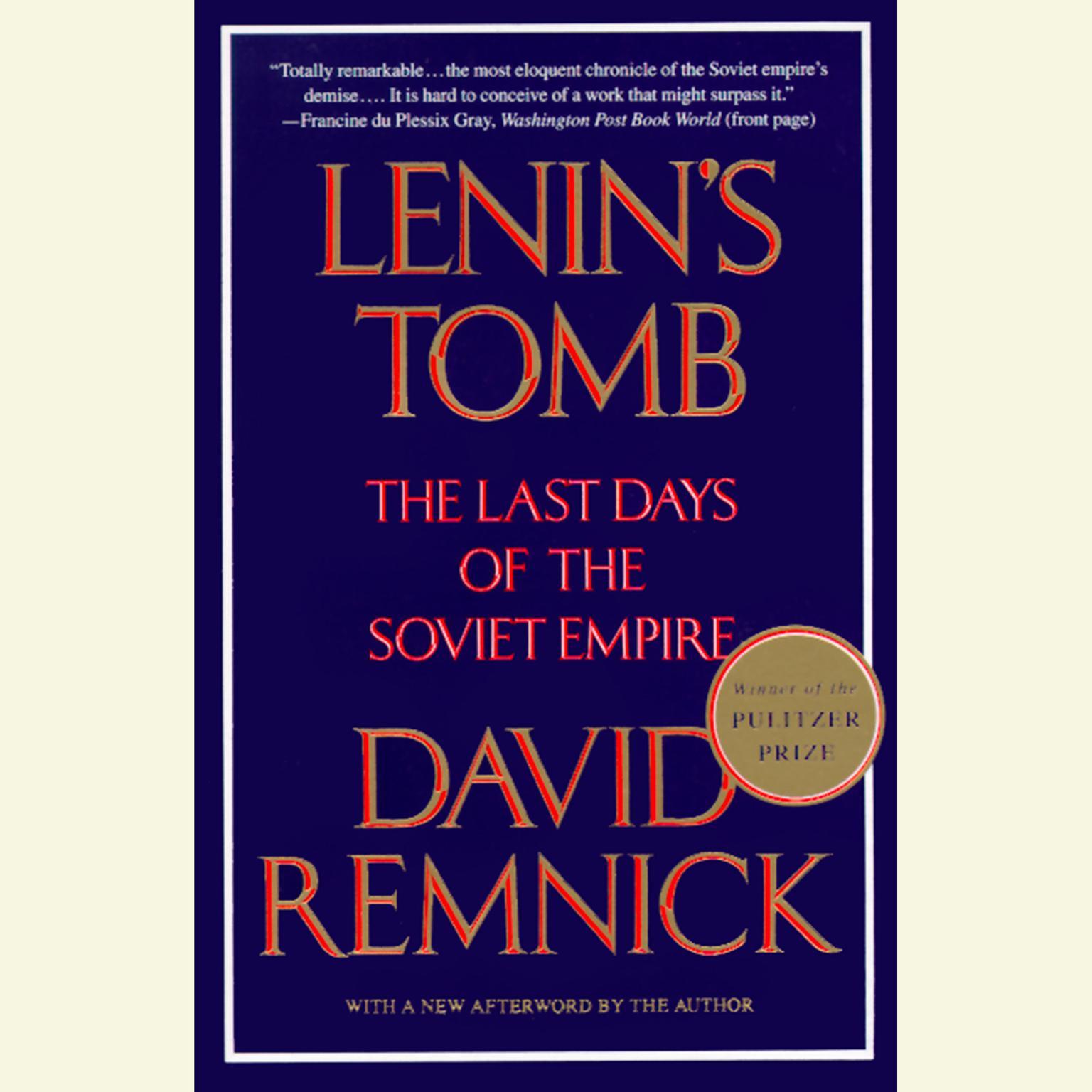 Printable Lenin's Tomb: The Last Days Of The Soviet Empire Audiobook Cover Art