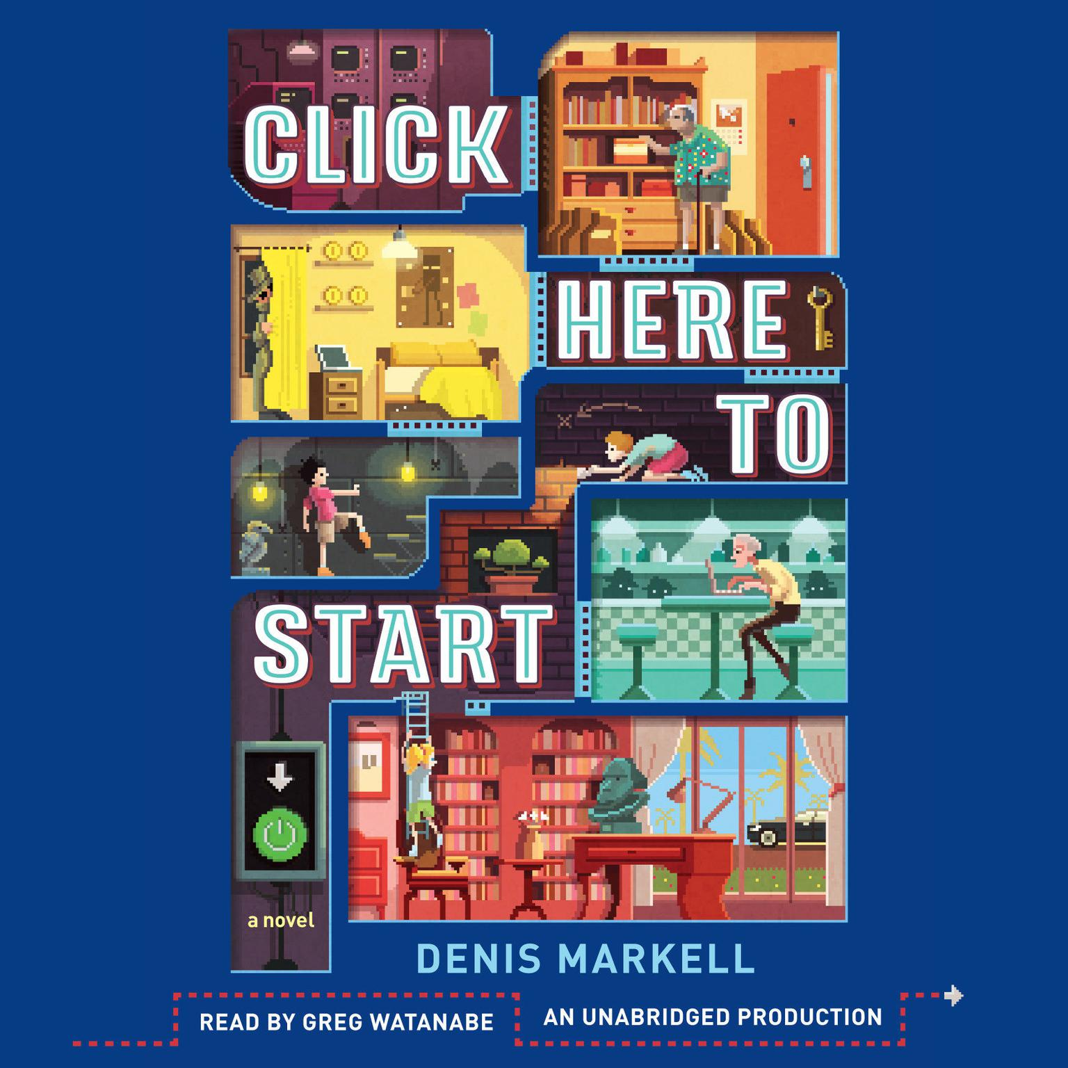 Printable Click Here to Start: A Novel Audiobook Cover Art
