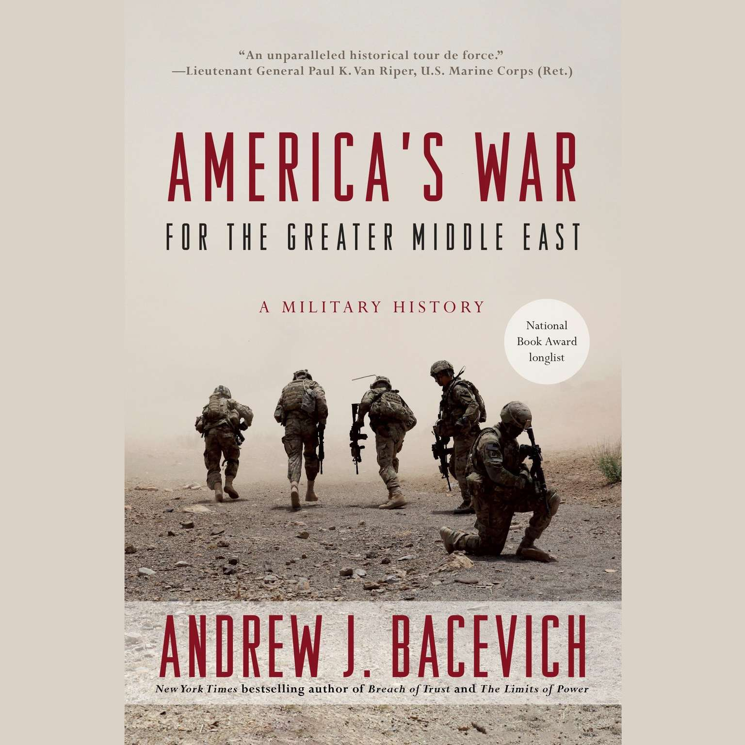Printable America's War for the Greater Middle East: A Military History Audiobook Cover Art
