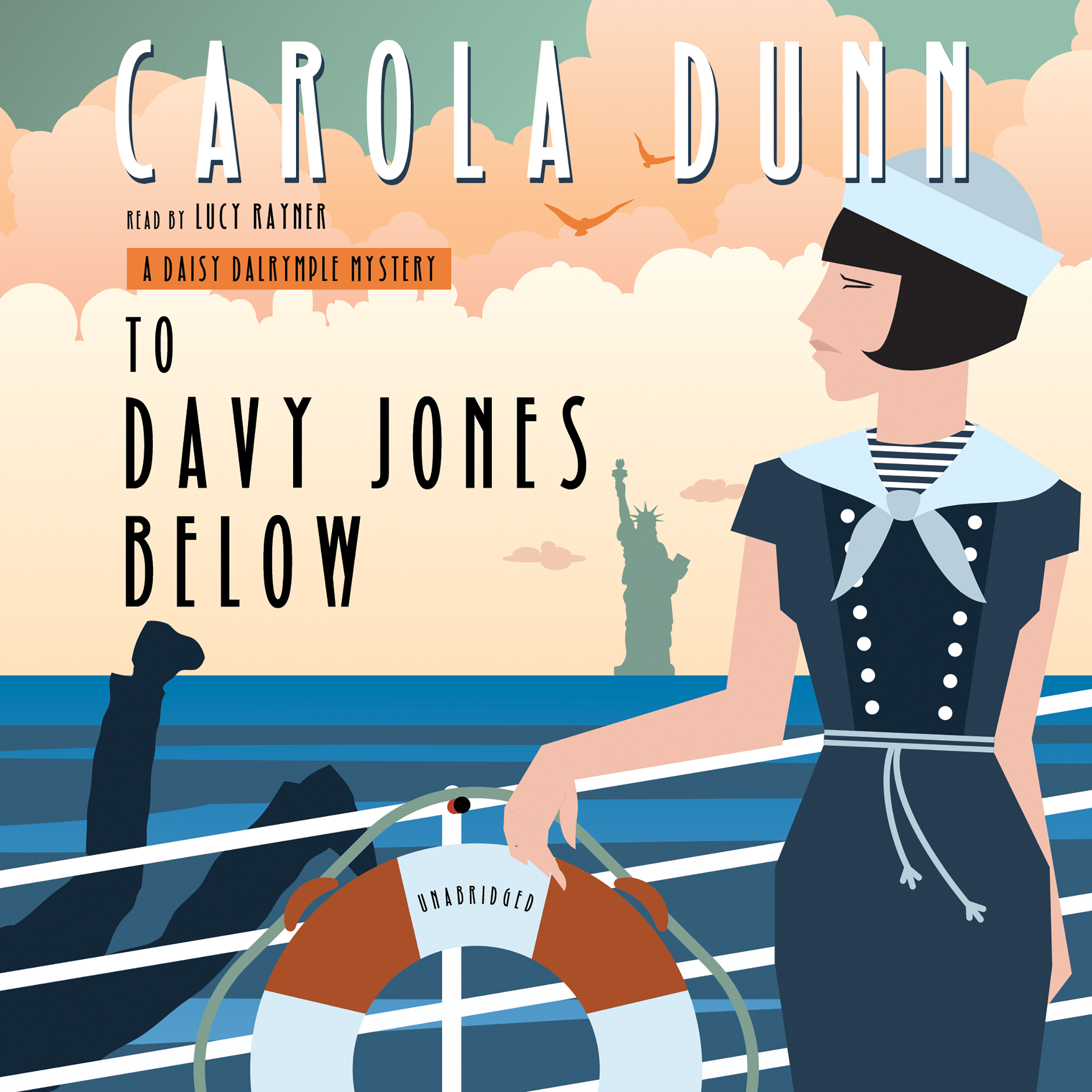 Printable To Davy Jones Below: A Daisy Dalrymple Mystery Audiobook Cover Art