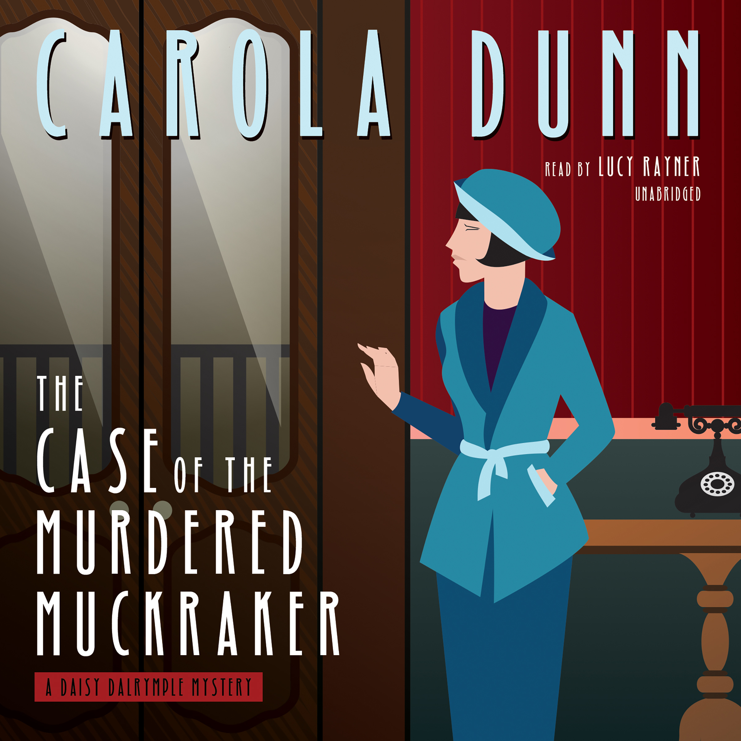 Printable The Case of the Murdered Muckraker: A Daisy Dalrymple Mystery Audiobook Cover Art