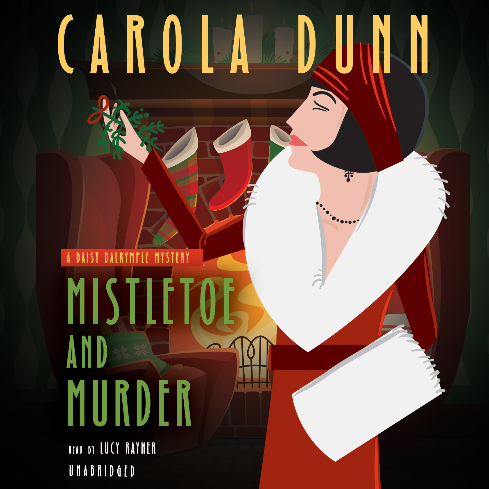 Printable Mistletoe and Murder: A Daisy Dalrymple Mystery Audiobook Cover Art