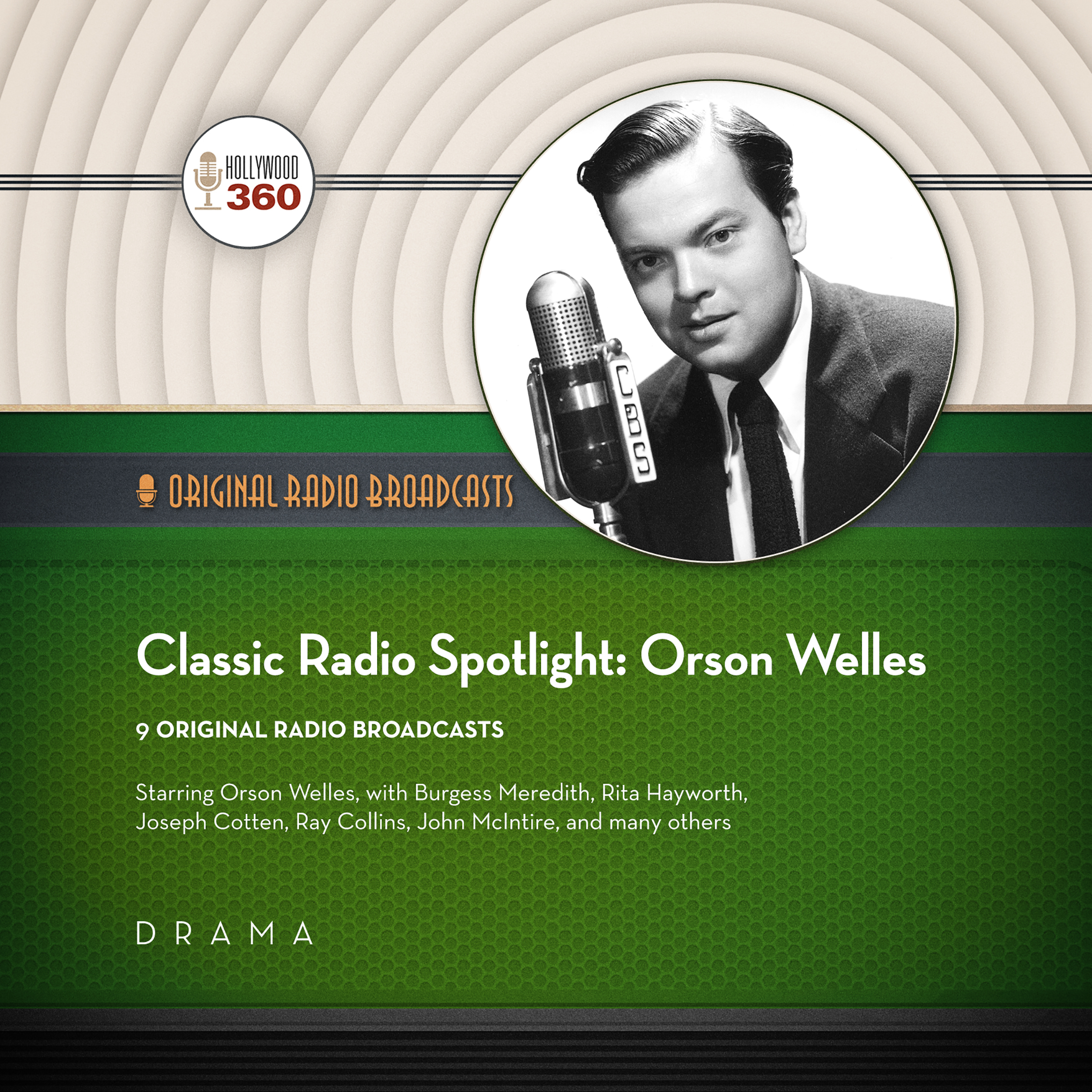 Printable Classic Radio Spotlights: Orson Welles Audiobook Cover Art