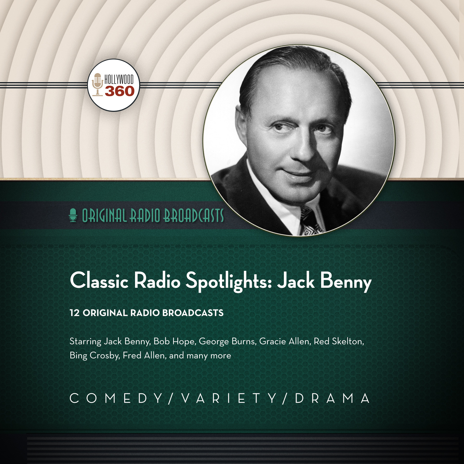 Printable Classic Radio Spotlights: Jack Benny  Audiobook Cover Art