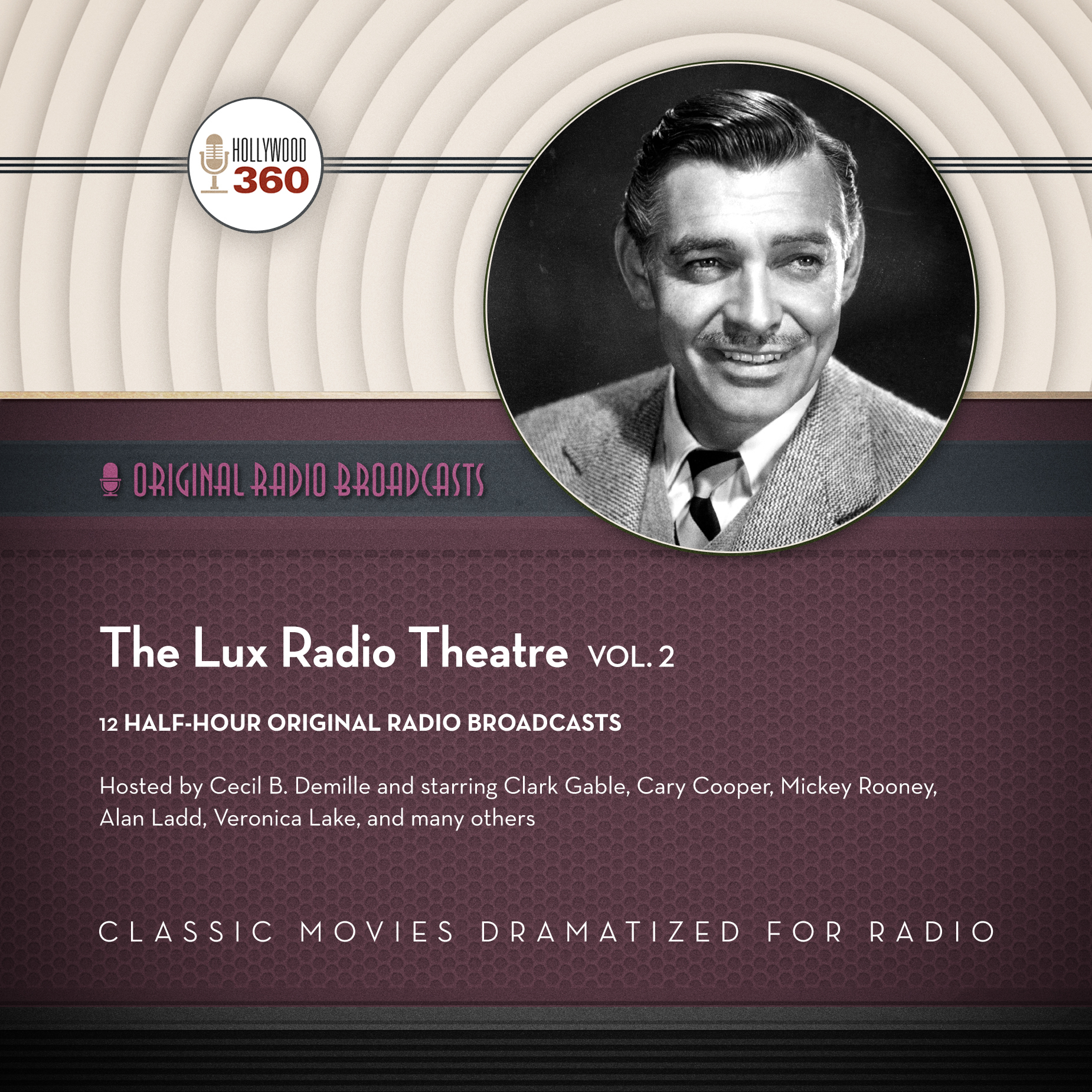 Printable The Lux Radio Theatre, Vol. 2 Audiobook Cover Art