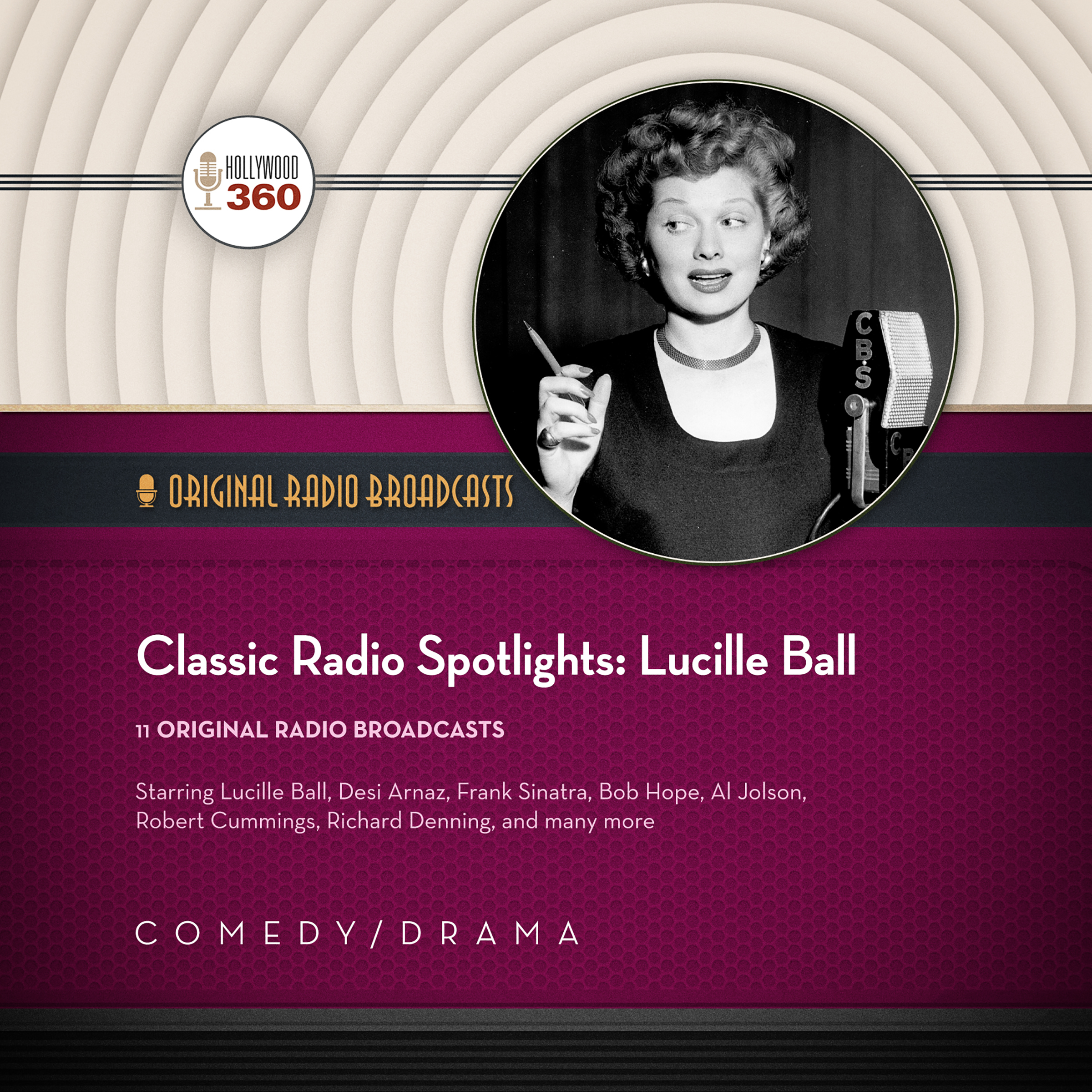 Printable Classic Radio Spotlights: Lucille Ball Audiobook Cover Art