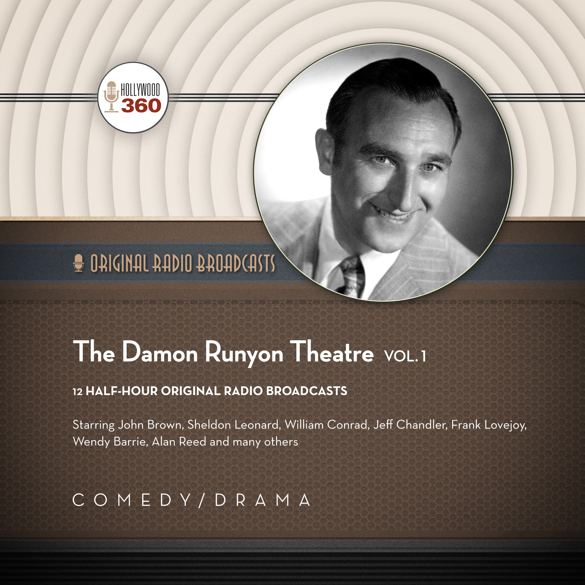 Printable The Damon Runyon Theatre, Vol. 1 Audiobook Cover Art