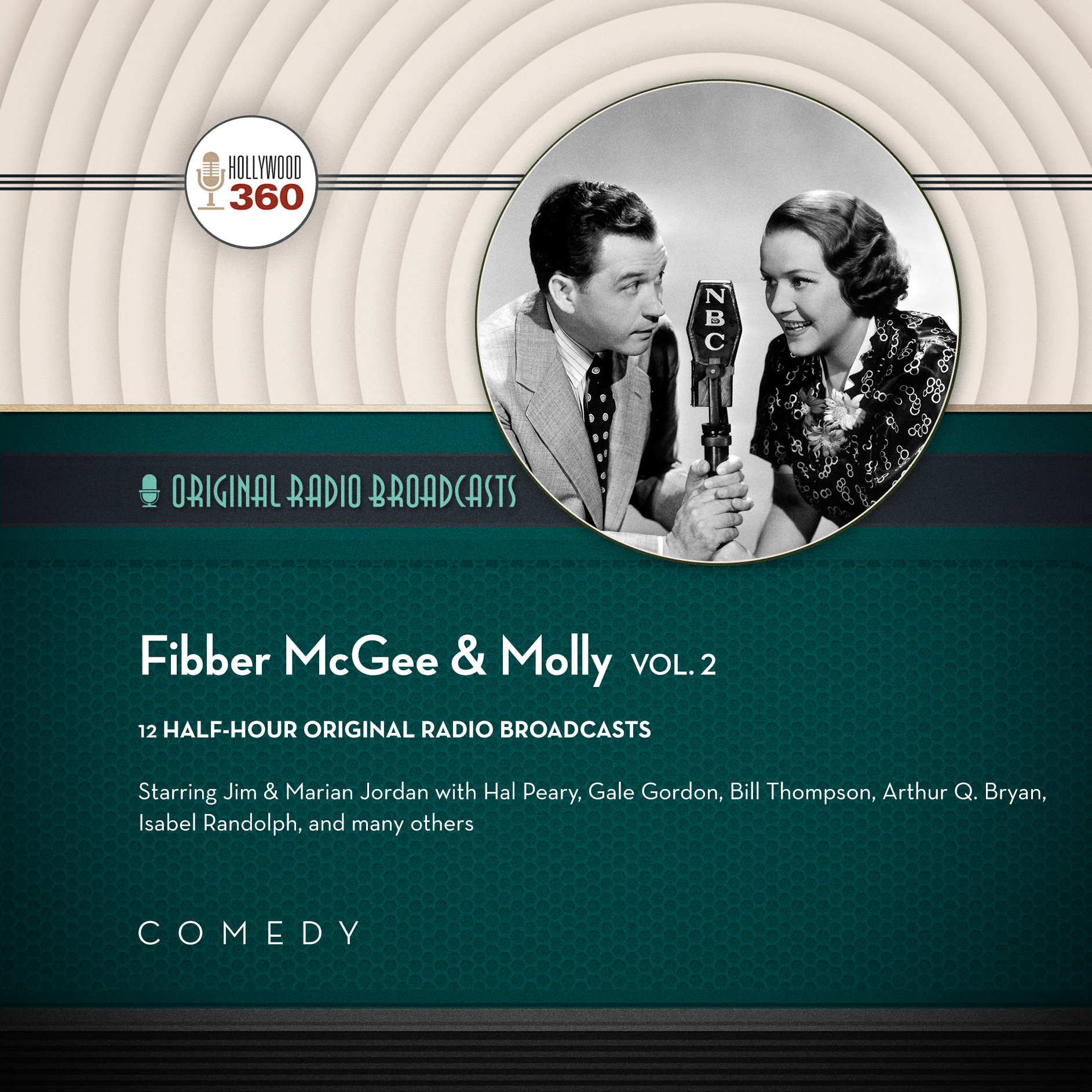 Printable Fibber McGee & Molly, Vol. 2 Audiobook Cover Art
