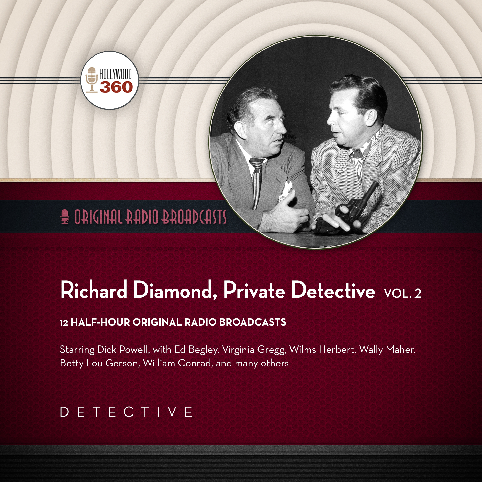 Printable Richard Diamond, Private Detective, Vol. 2 Audiobook Cover Art
