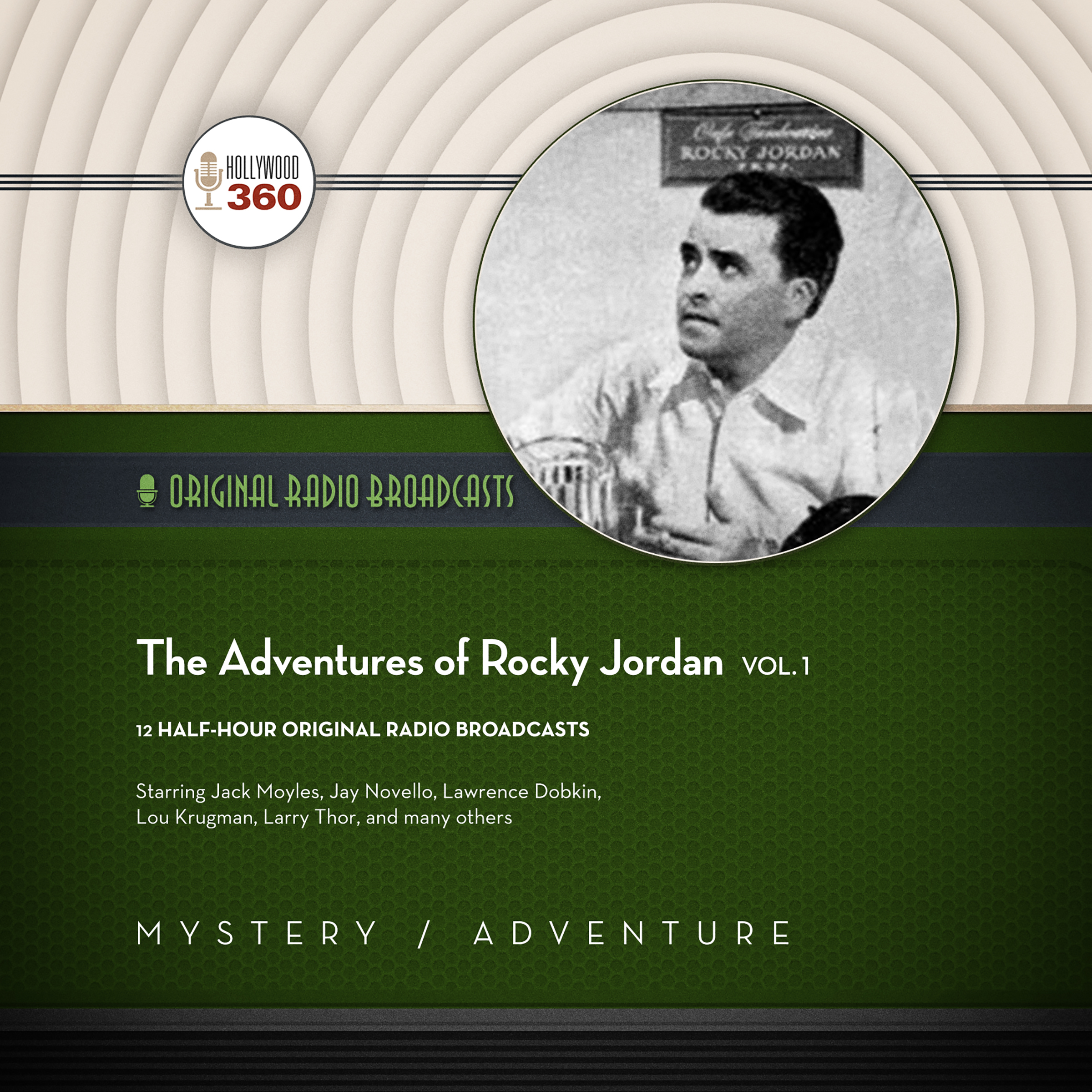 Printable The Adventures of Rocky Jordan, Vol. 1 Audiobook Cover Art