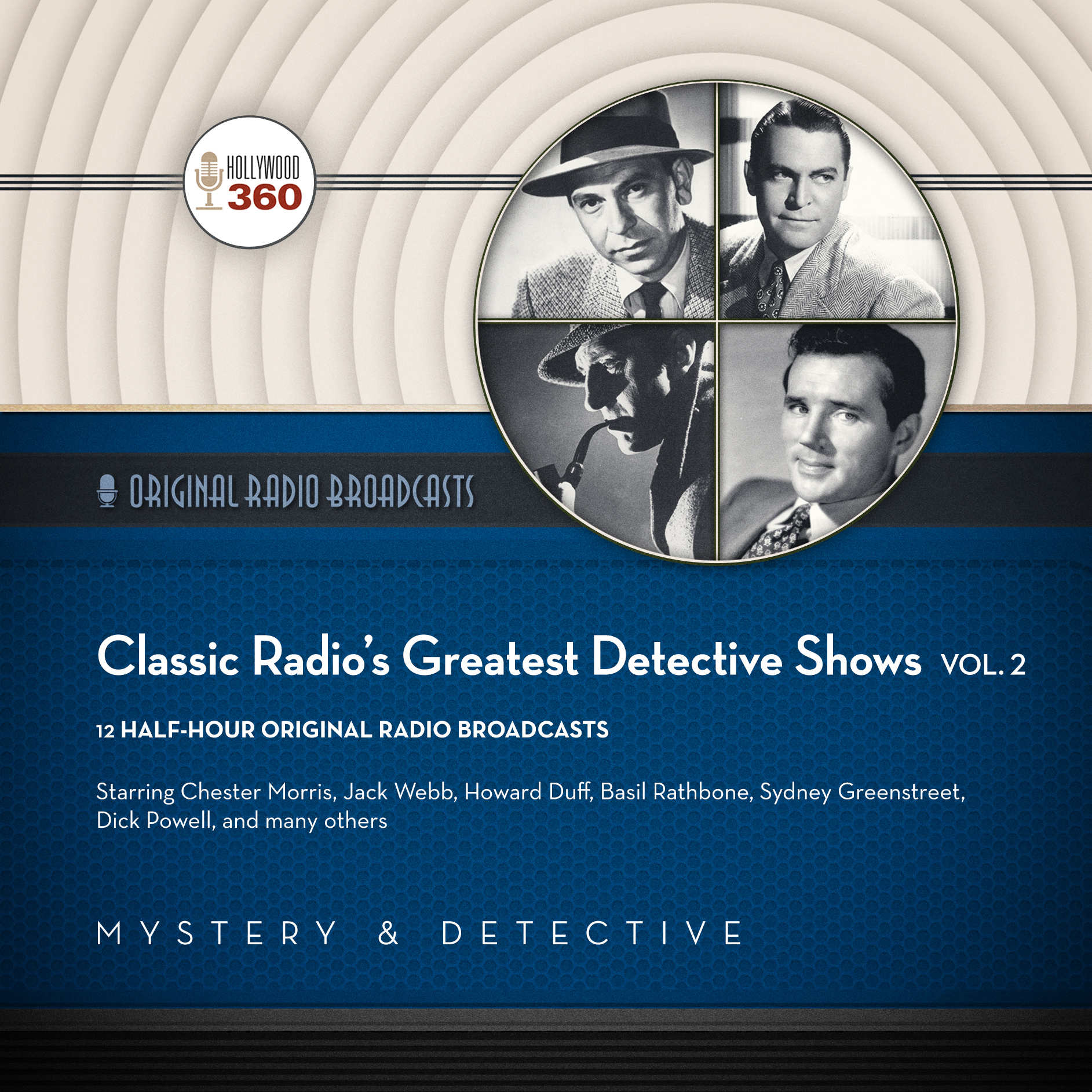 Printable Classic Radio's Greatest Detective Shows, Vol. 2 Audiobook Cover Art