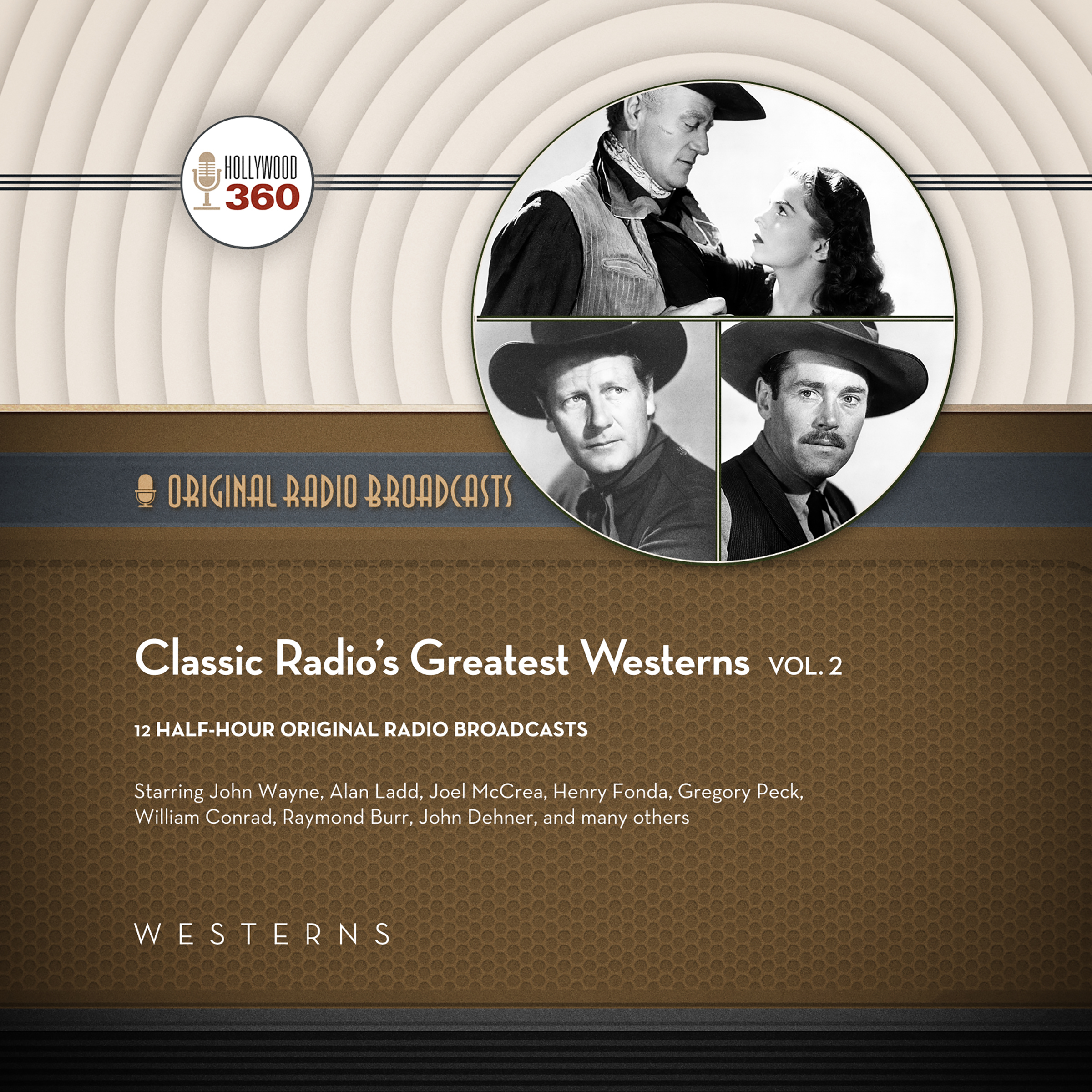 Printable Classic Radio's Greatest Westerns, Vol. 2 Audiobook Cover Art