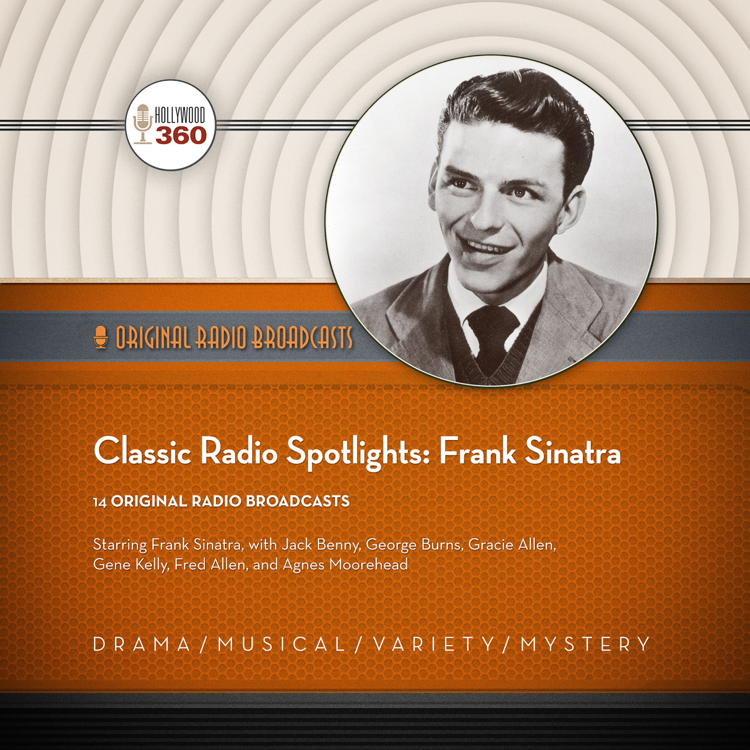 Printable Classic Radio Spotlights: Frank Sinatra Audiobook Cover Art