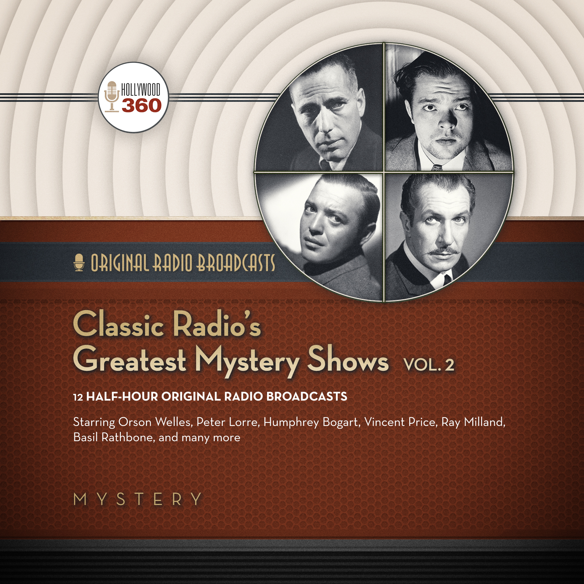 Printable Classic Radio's Greatest Mystery Shows, Vol. 2 Audiobook Cover Art