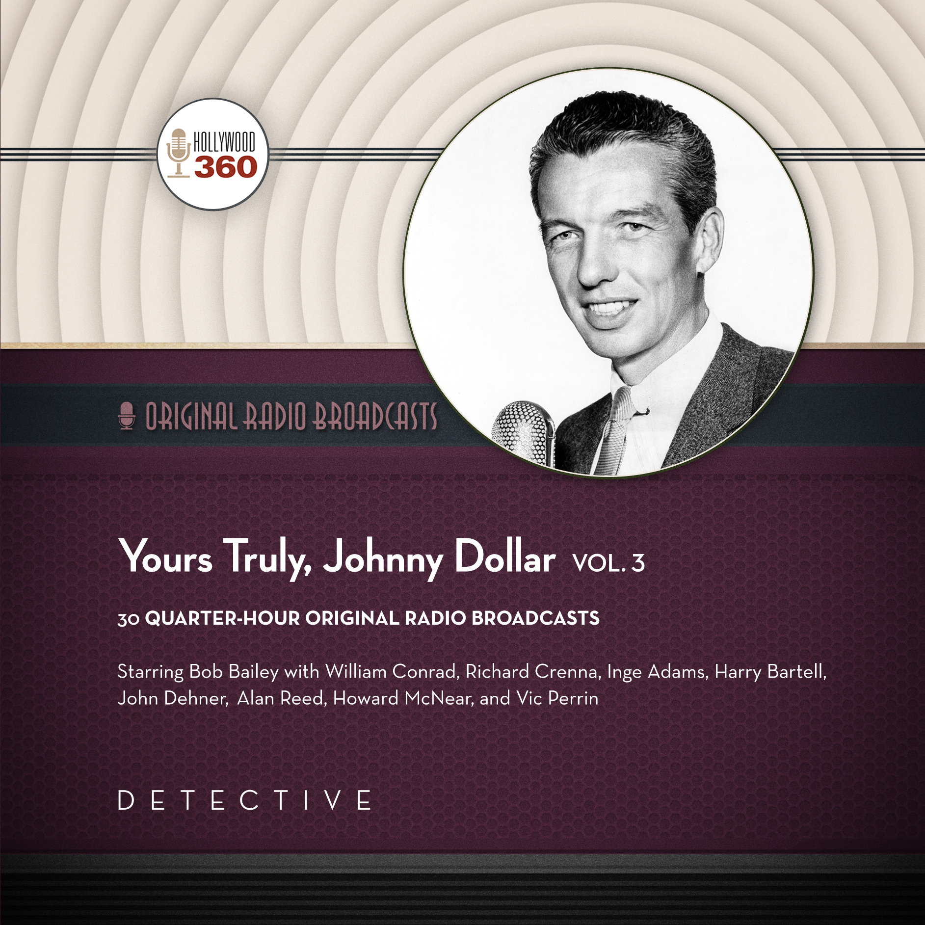Printable Yours Truly, Johnny Dollar, Vol. 3 Audiobook Cover Art