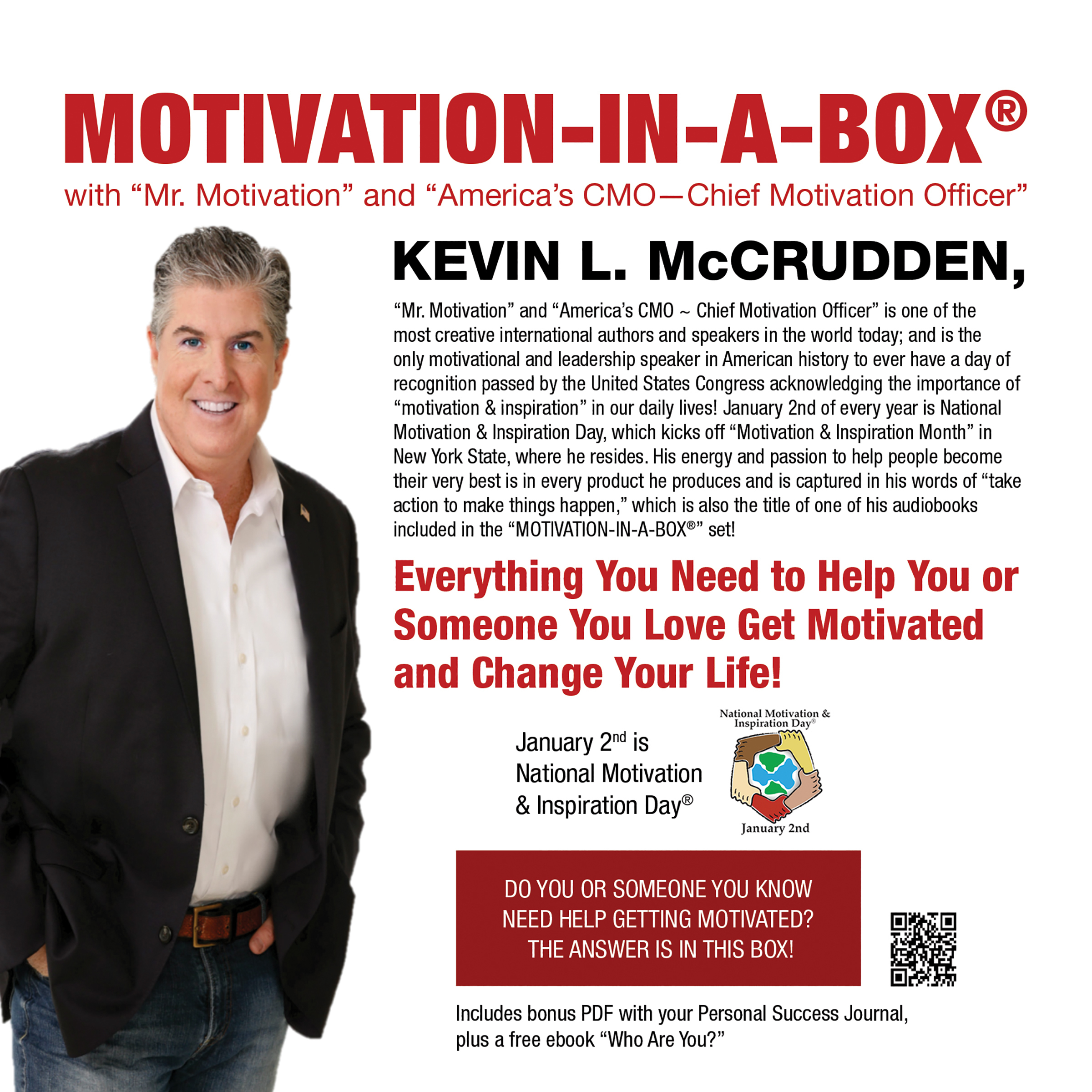 Printable Motivation-in-a-Box®: Everything You Need to Help You or Someone You Love Get Motivated and Change Your Life! Audiobook Cover Art