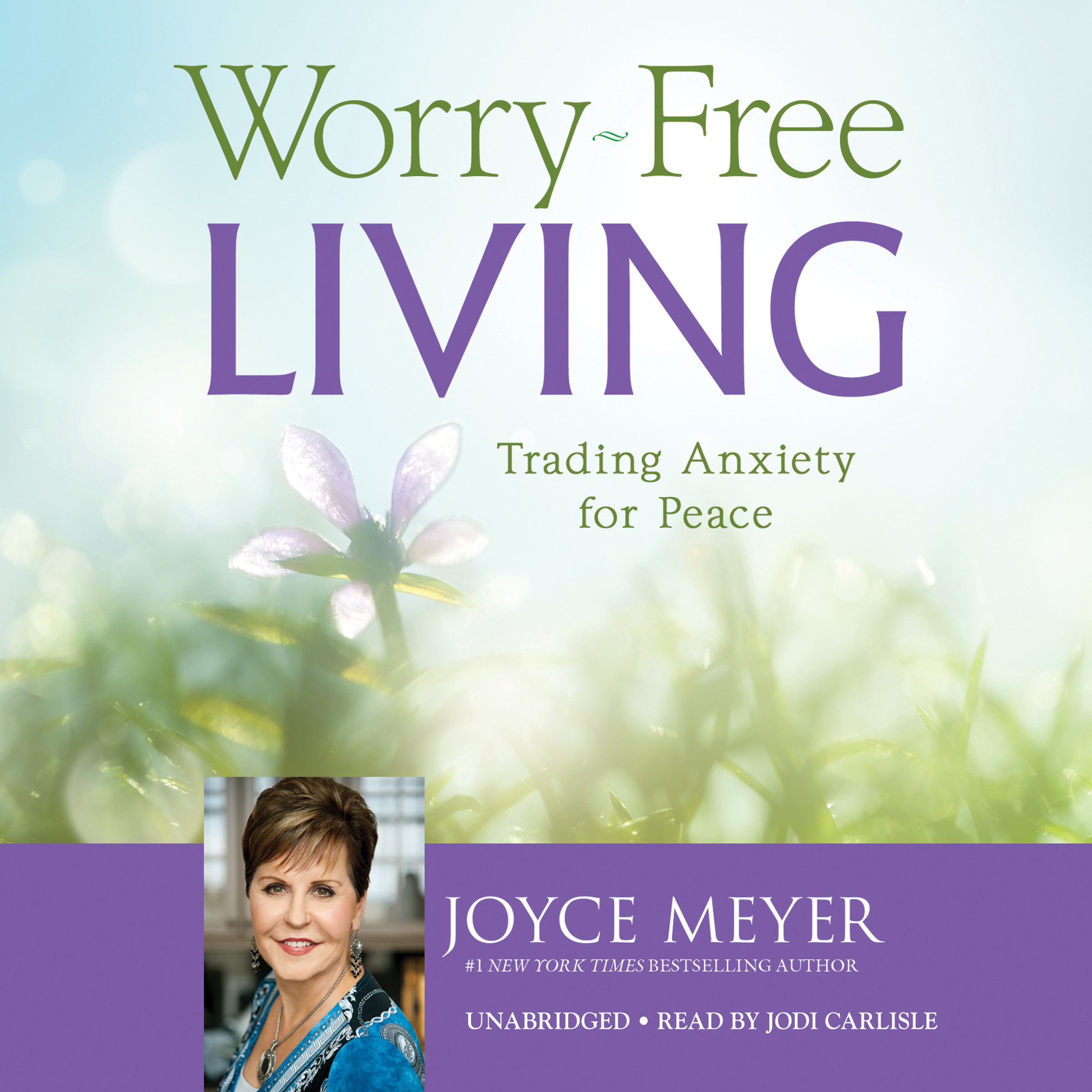 Printable Worry-Free Living: Trading Anxiety for Peace Audiobook Cover Art