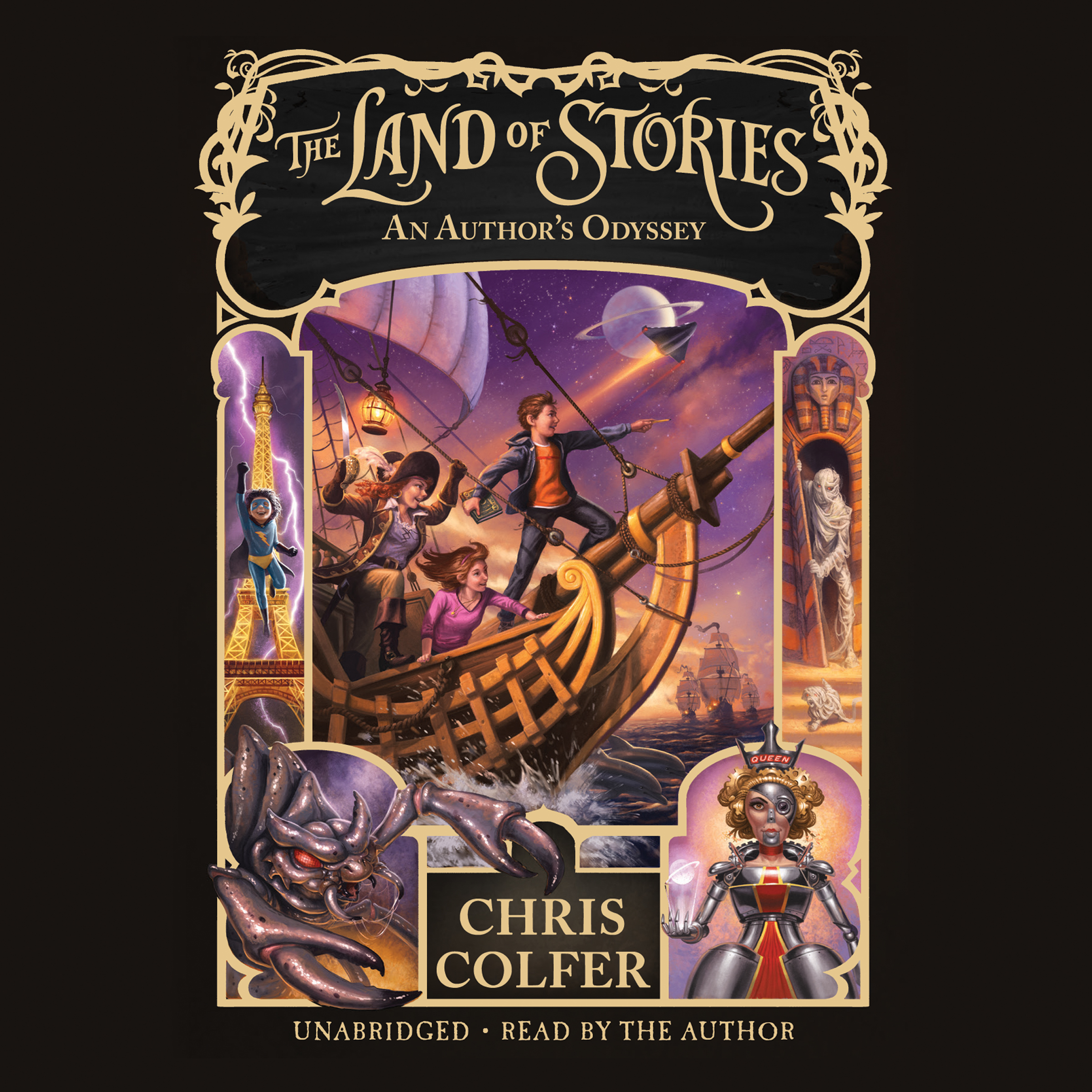 Printable The Land of Stories: An Author's Odyssey Audiobook Cover Art
