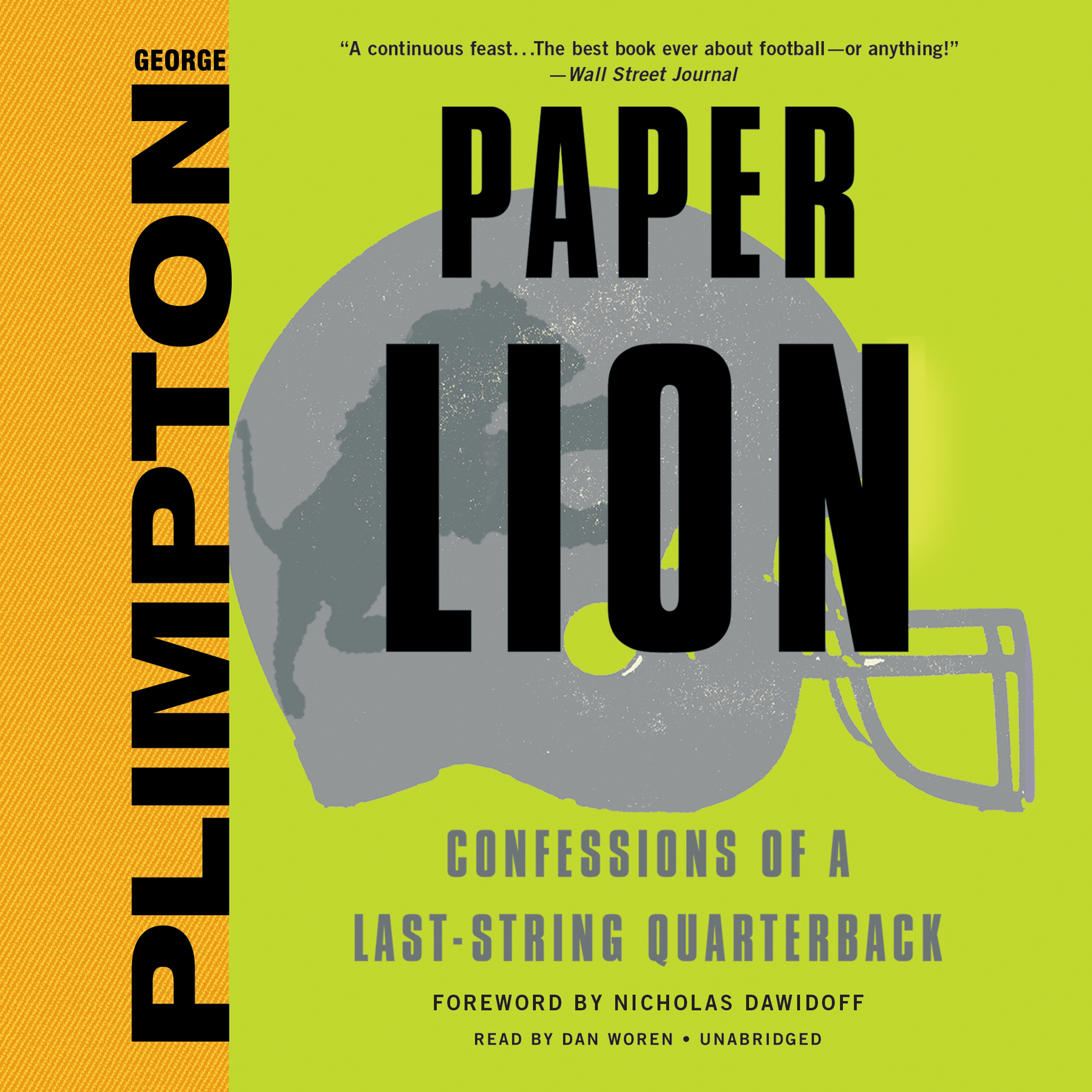 Printable Paper Lion: Confessions of a Last-String Quarterback Audiobook Cover Art