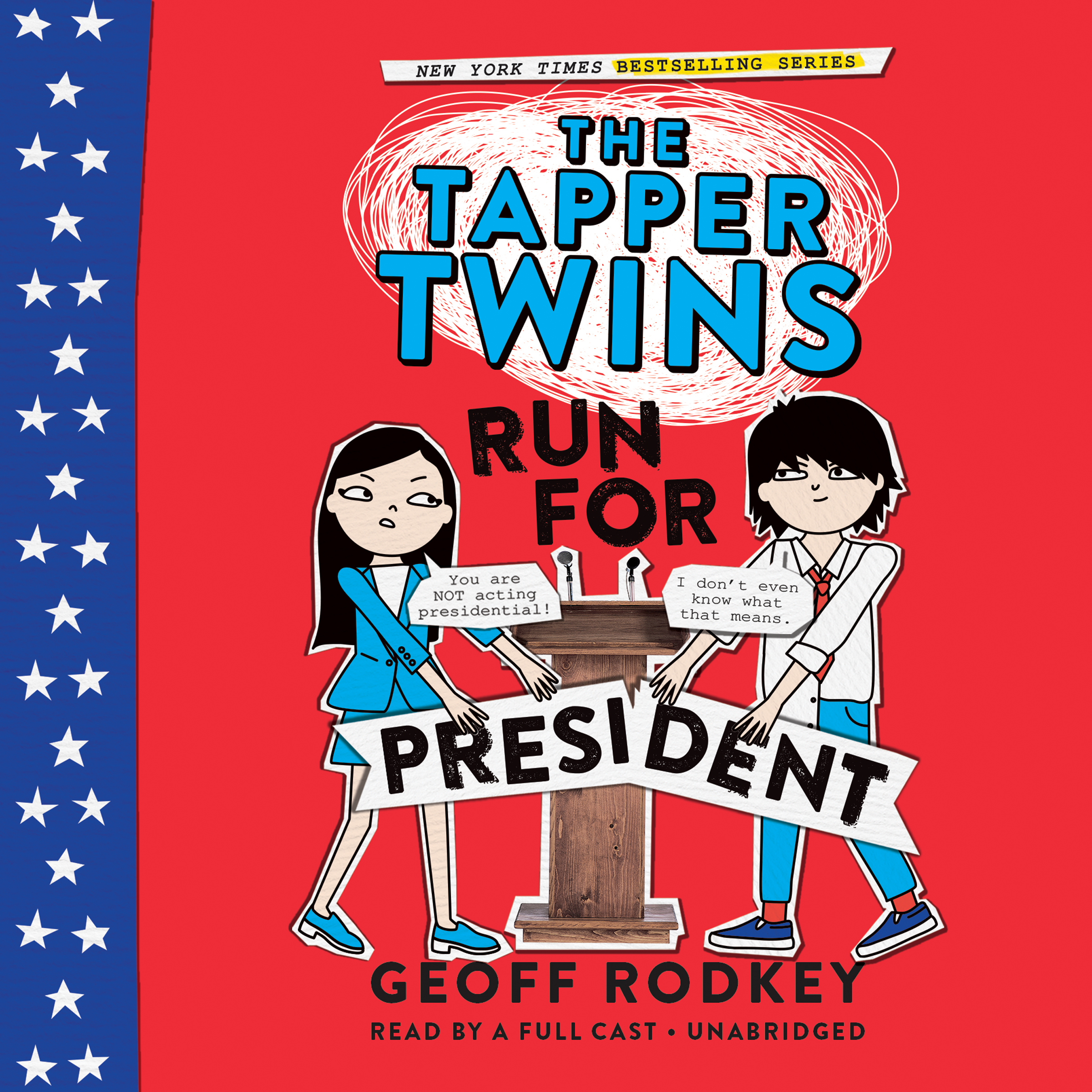 Printable The Tapper Twins Run for President Audiobook Cover Art