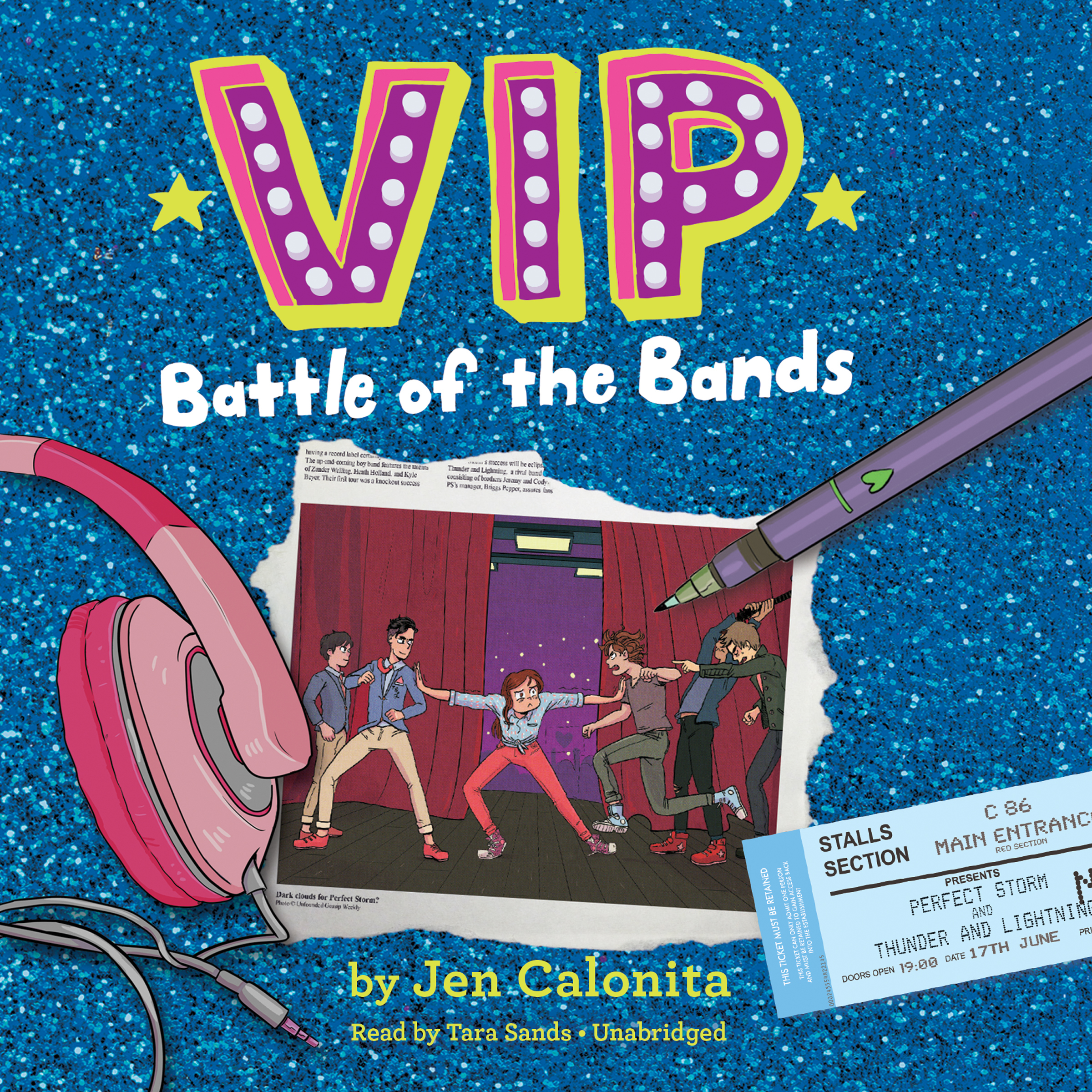 Printable VIP: Battle of the Bands Audiobook Cover Art