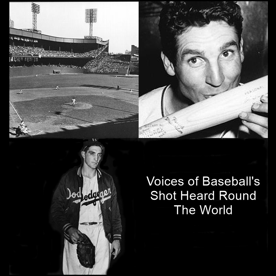 Printable Voices of Baseball's Shot Heard 'round the World Audiobook Cover Art