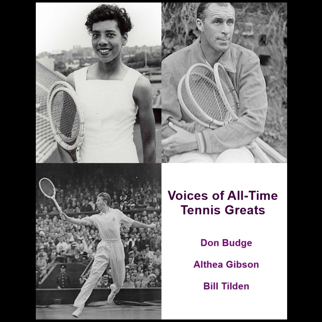 Printable Voices of All-Time Tennis Greats Audiobook Cover Art
