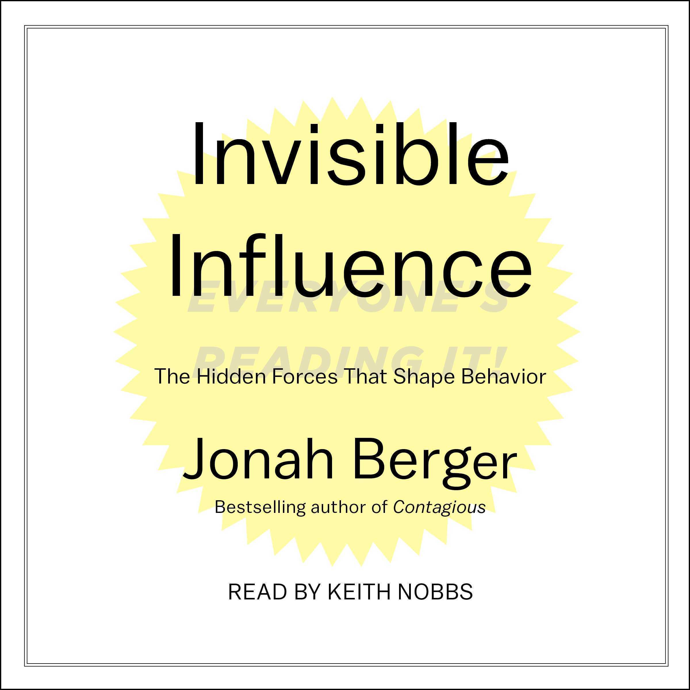Printable Invisible Influence: The Hidden Forces that Shape Behavior Audiobook Cover Art