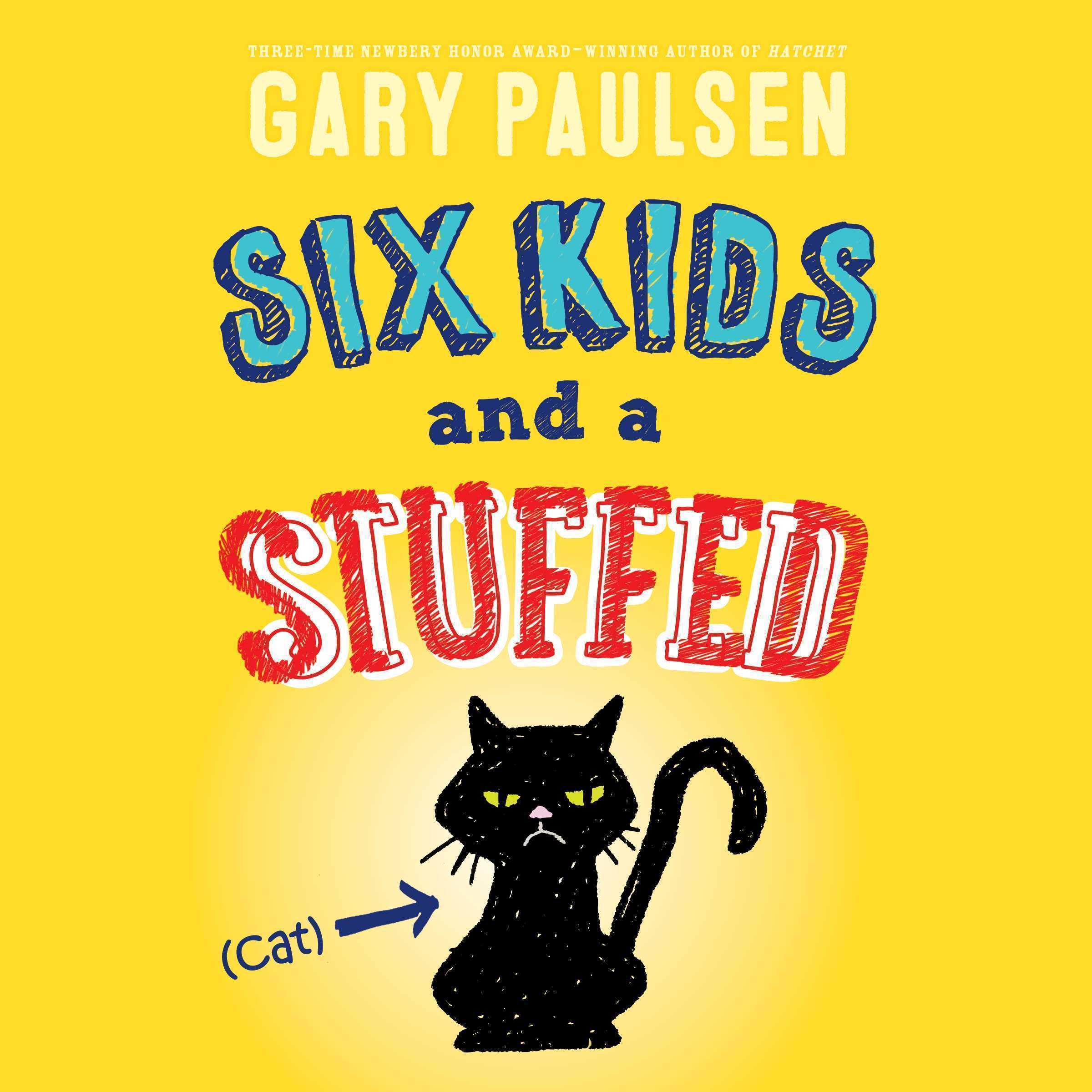 Printable Six Kids and a Stuffed Cat Audiobook Cover Art