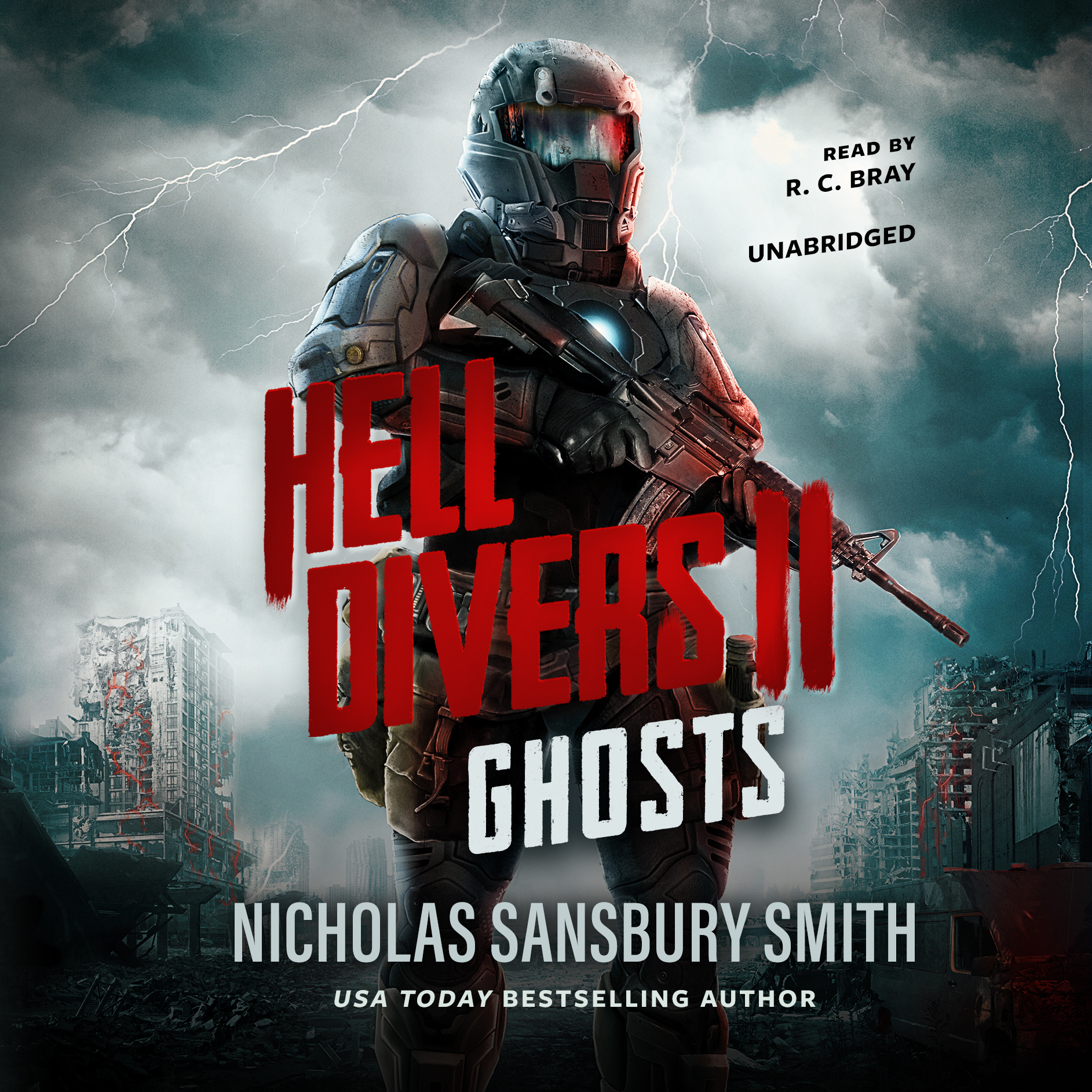 Printable Hell Divers II: Ghosts Audiobook Cover Art