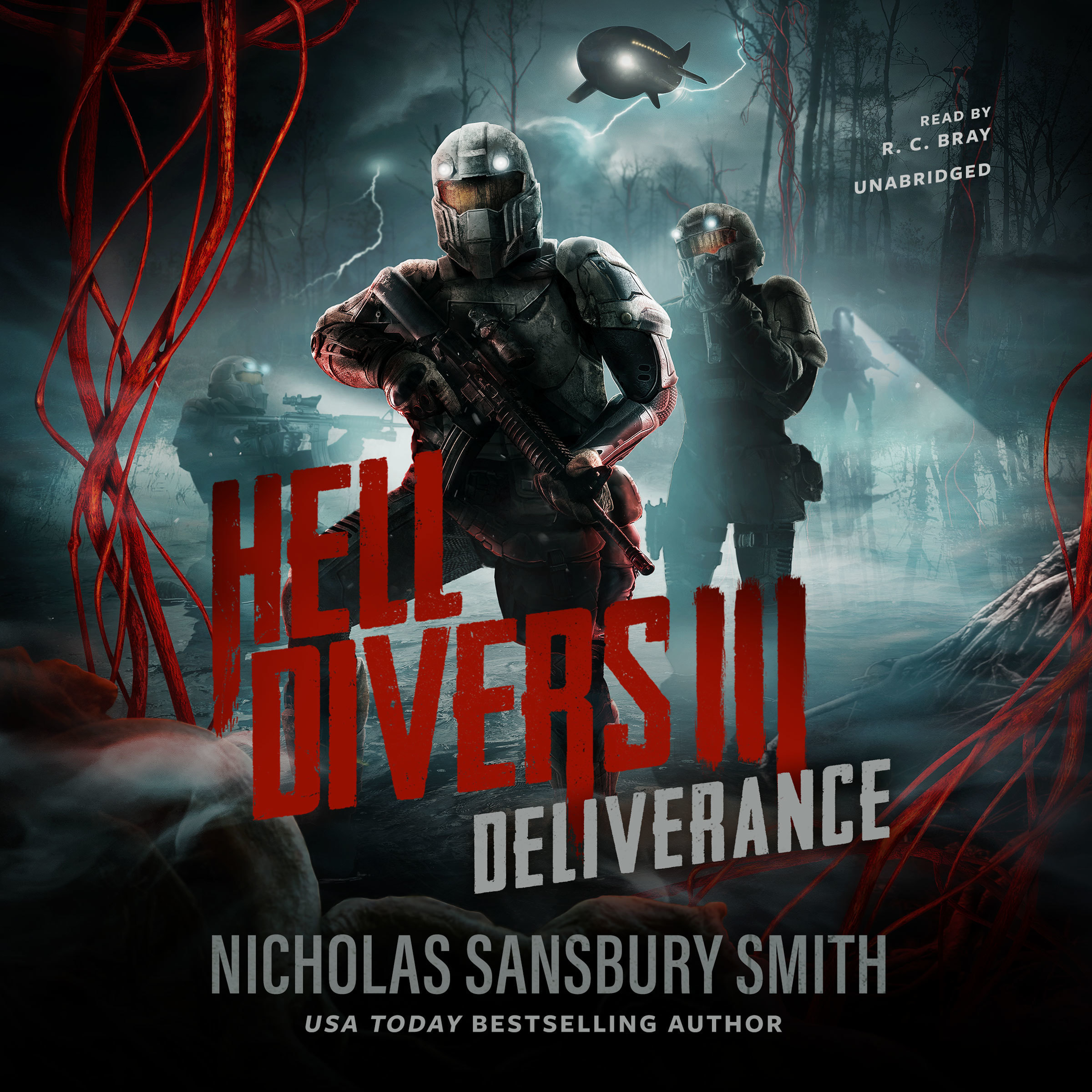 Printable Hell Divers III: Deliverance Audiobook Cover Art