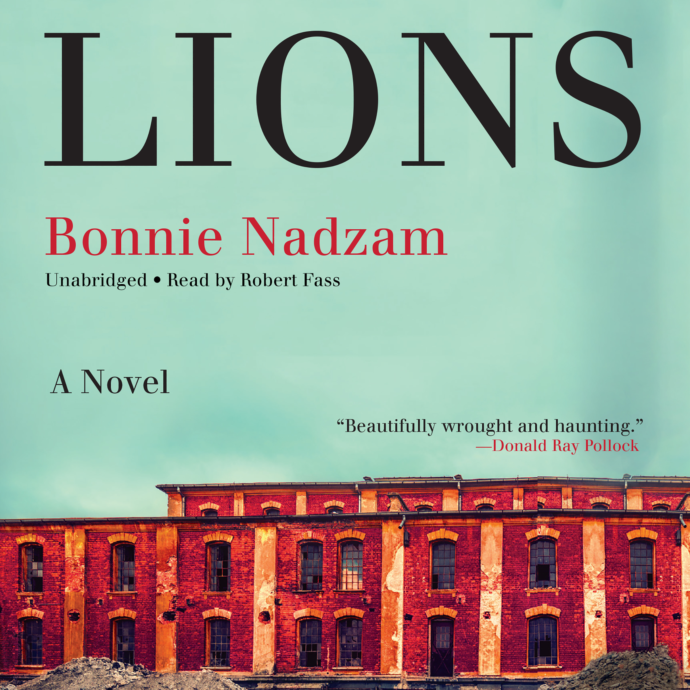 Printable Lions: A Novel Audiobook Cover Art