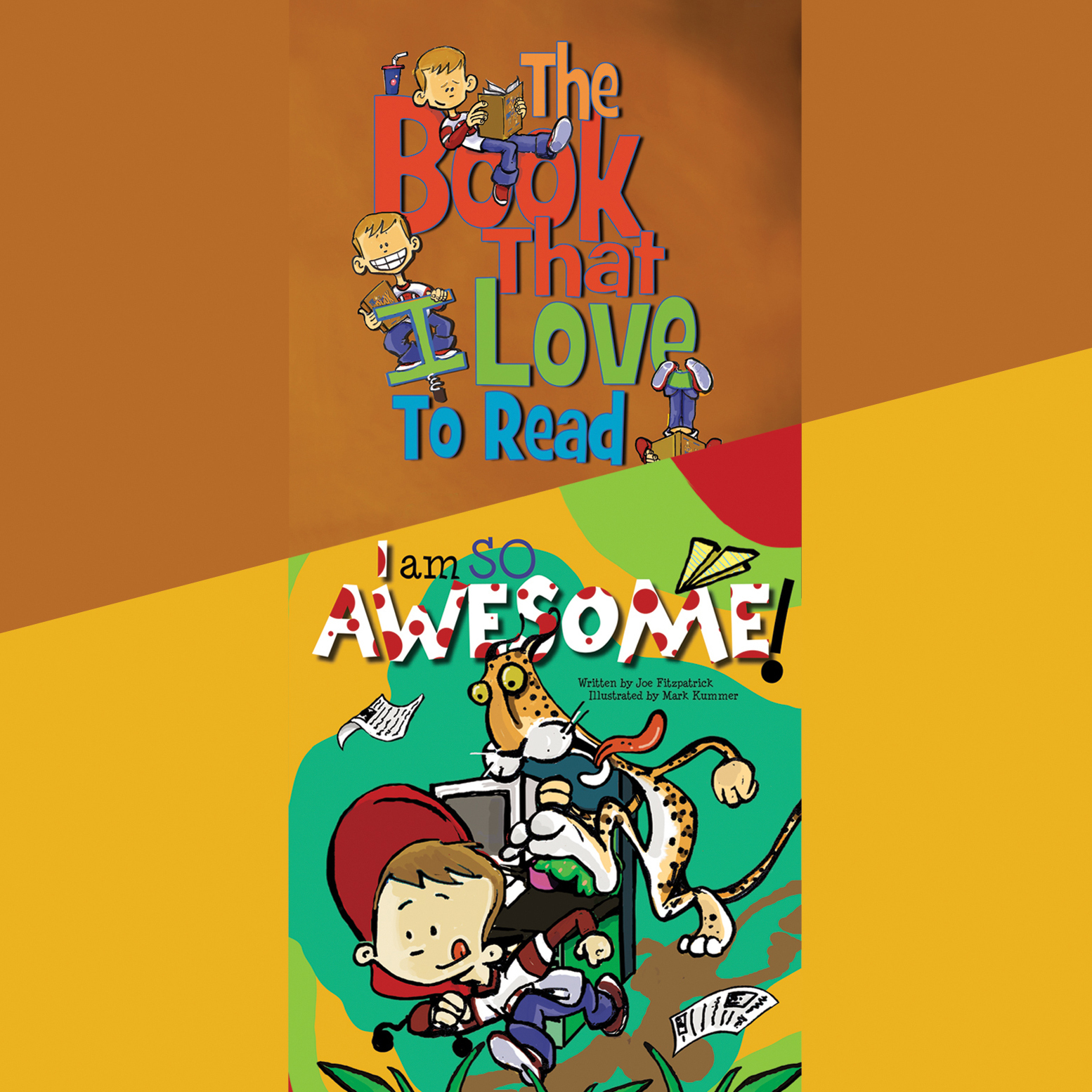 Printable The Book That I Love to Read & I Am So Awesome Audiobook Cover Art