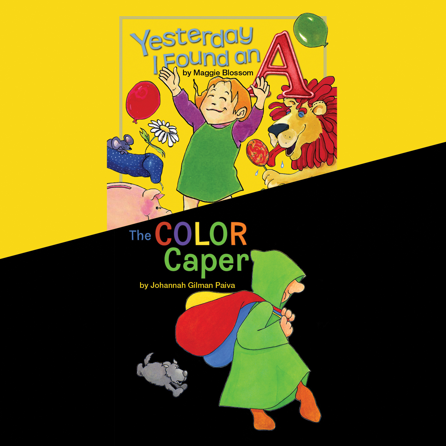 Printable Yesterday I Found an A & The Color Caper Audiobook Cover Art