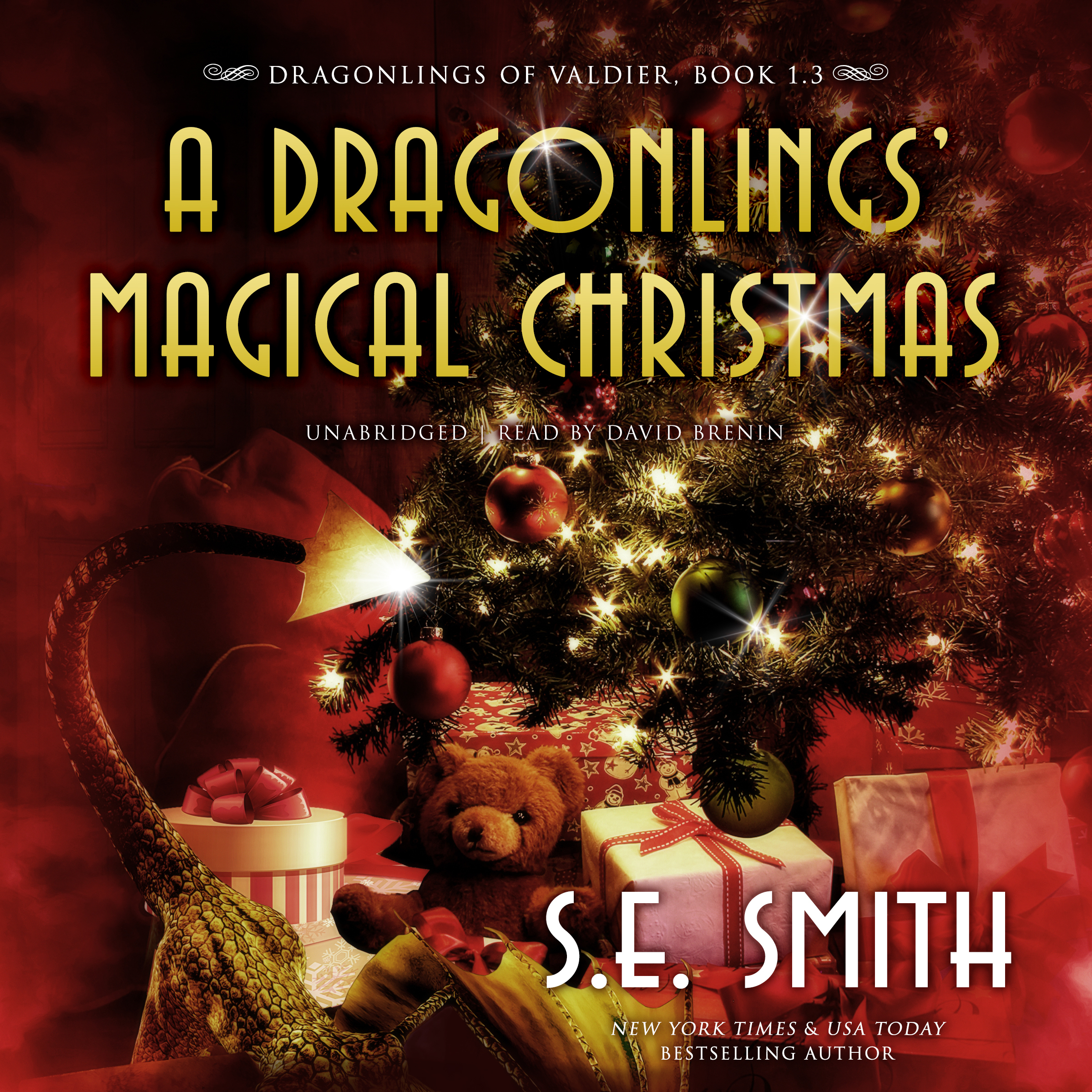 Printable A Dragonlings' Magical Christmas Audiobook Cover Art