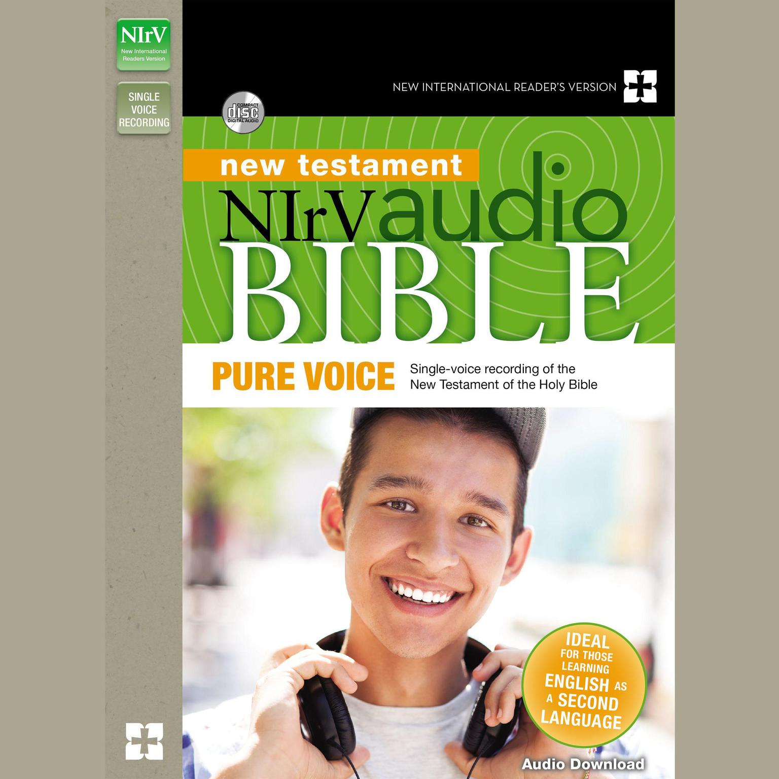 Printable NIrV Audio Bible New Testament, Pure Voice: Single-voice recording of the New Testament Audiobook Cover Art