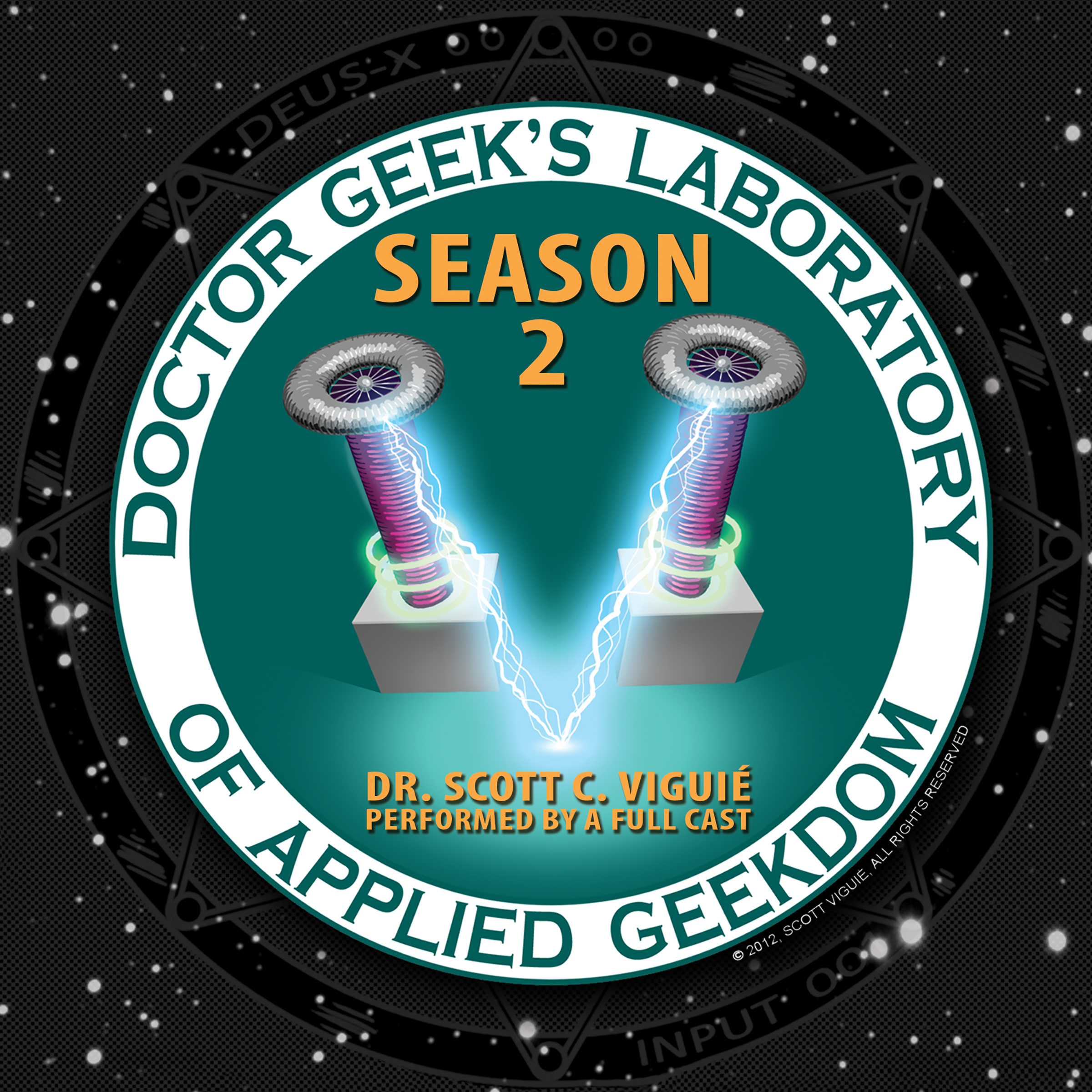 Printable Doctor Geek's Laboratory, Season 2: Investigating the Exploration of STEAM (Science, Technology, Engineering, Art, and Math) Audiobook Cover Art