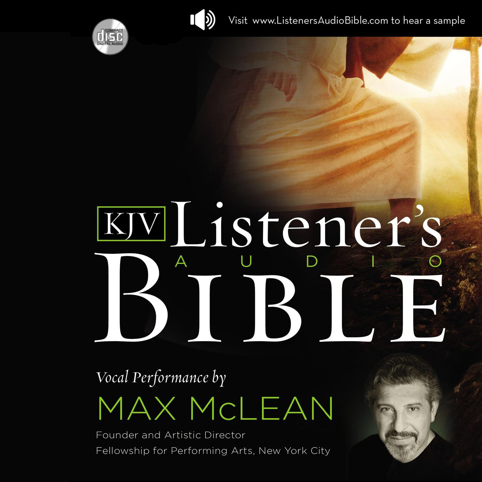 Printable The KJV Listener's Audio Bible: Vocal Performance by Max McLean Audiobook Cover Art